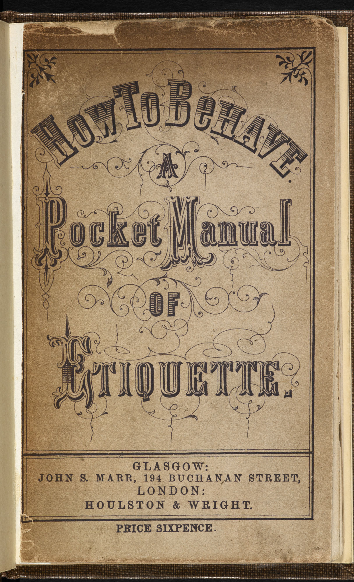 How to Behave: A Pocket Manual of Etiquette [page: front cover]