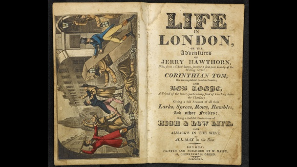 Life in London, or the Adventures of Jerry Hawthorn [page: frontispiece and title page]
