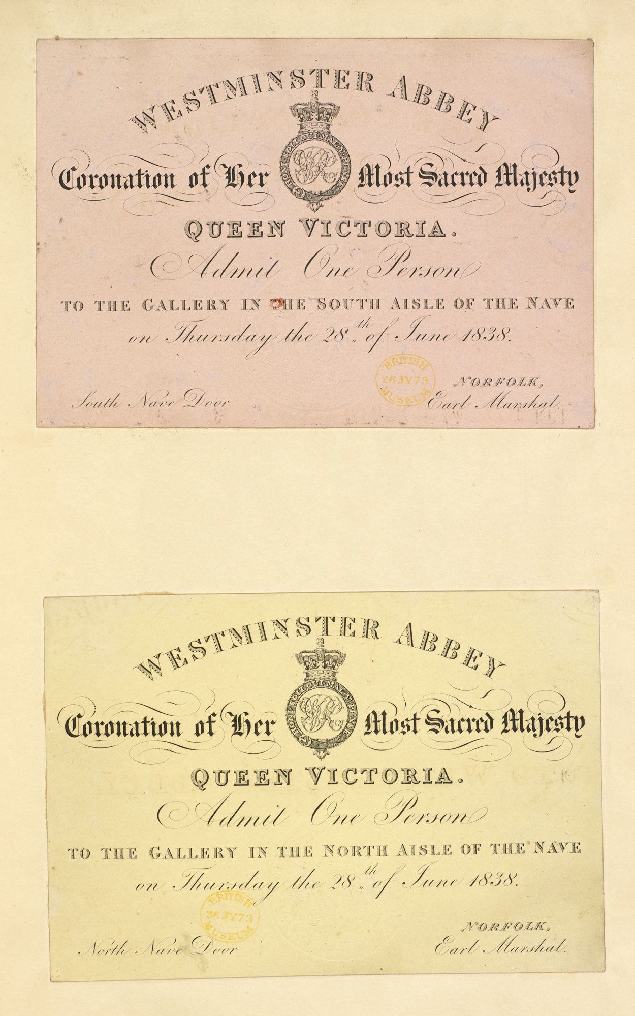 Material relating to the Coronation of Queen Victoria [page: 0]