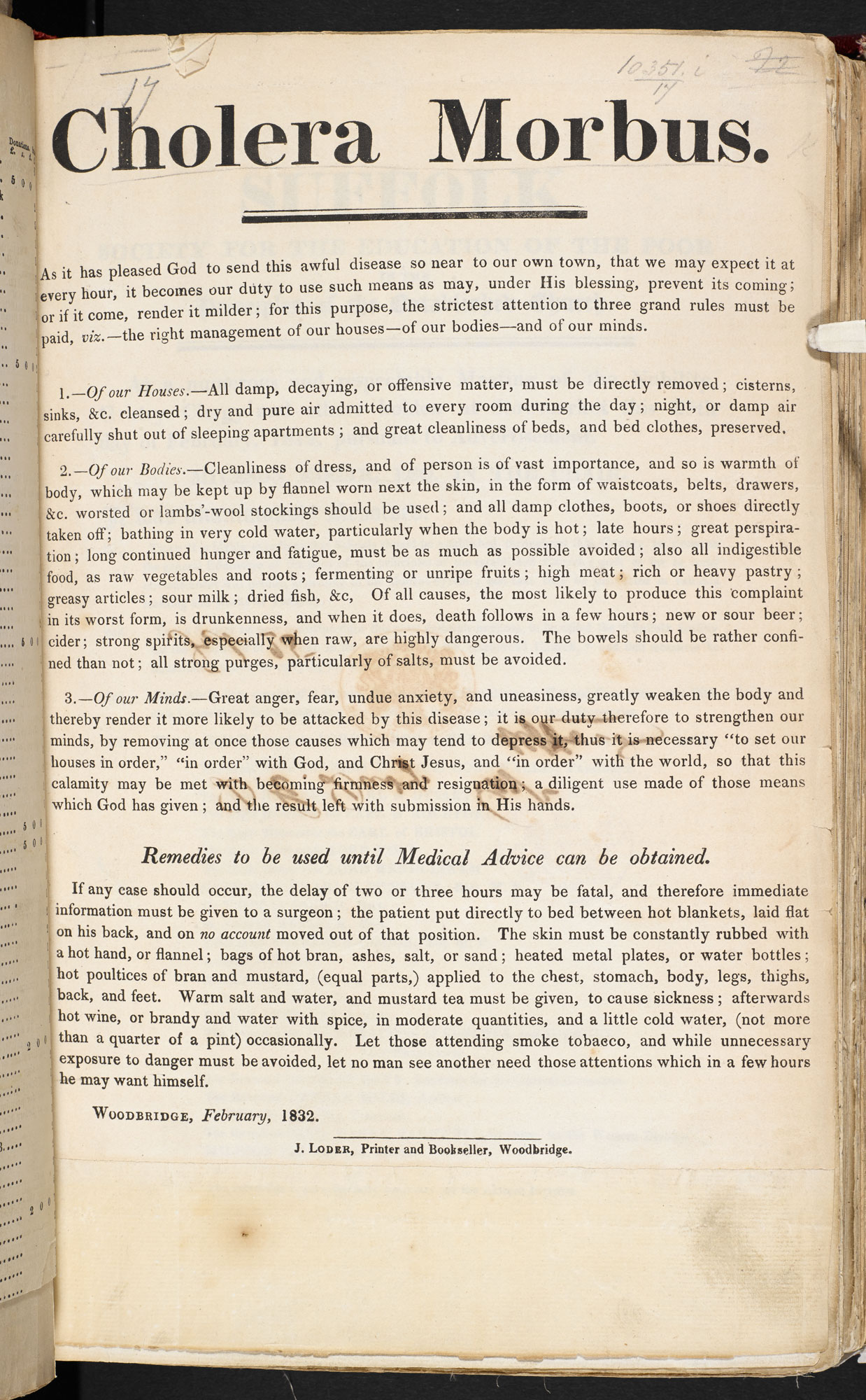 Medical directions for cholera [page: 17]