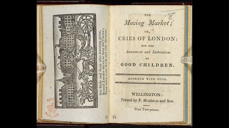 The Moving Market, or Cries of London [page: frontispiece and title page]