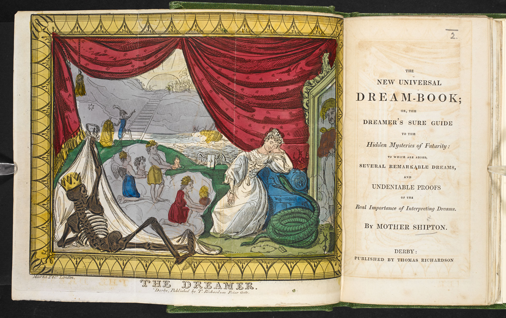 The New Universal Dream-book  [page: fold-out frontispiece and title page]