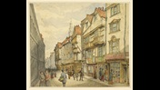 Original watercolour of Wych Street, London, 1860
