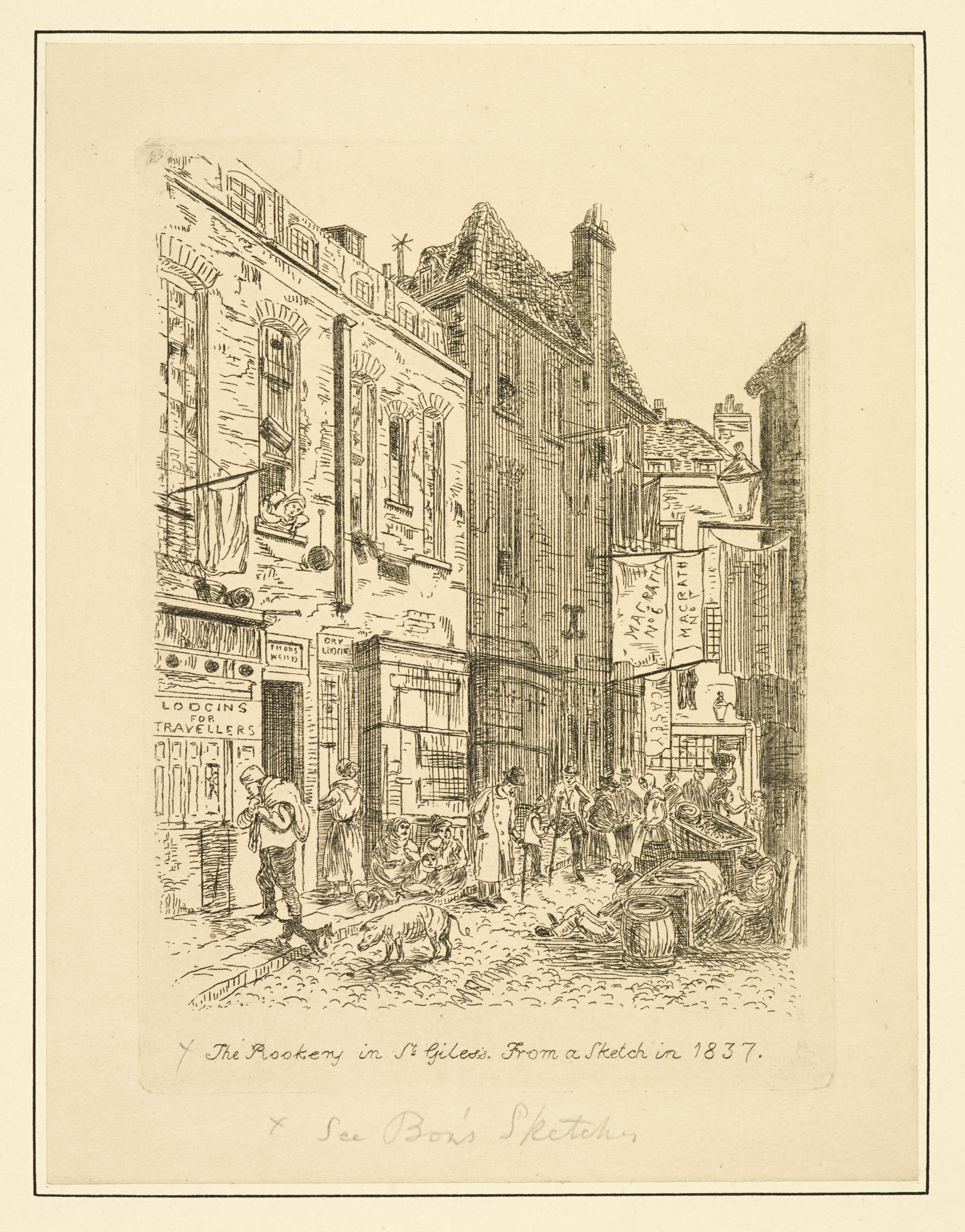Printed sketch of The Rookery in St. Giles, 1817 [page: 42]