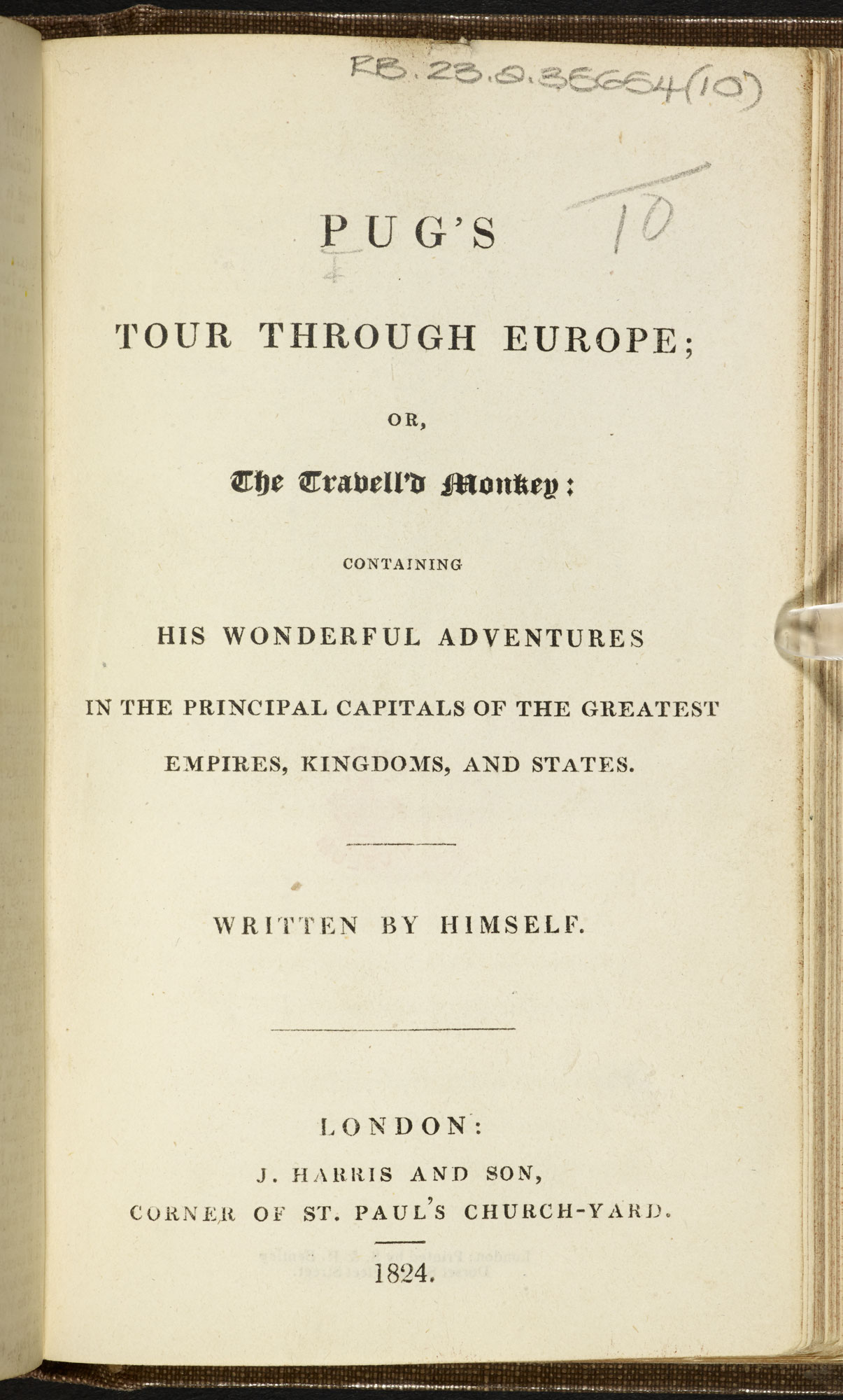 Pug's Tour through Europe [page: title page]