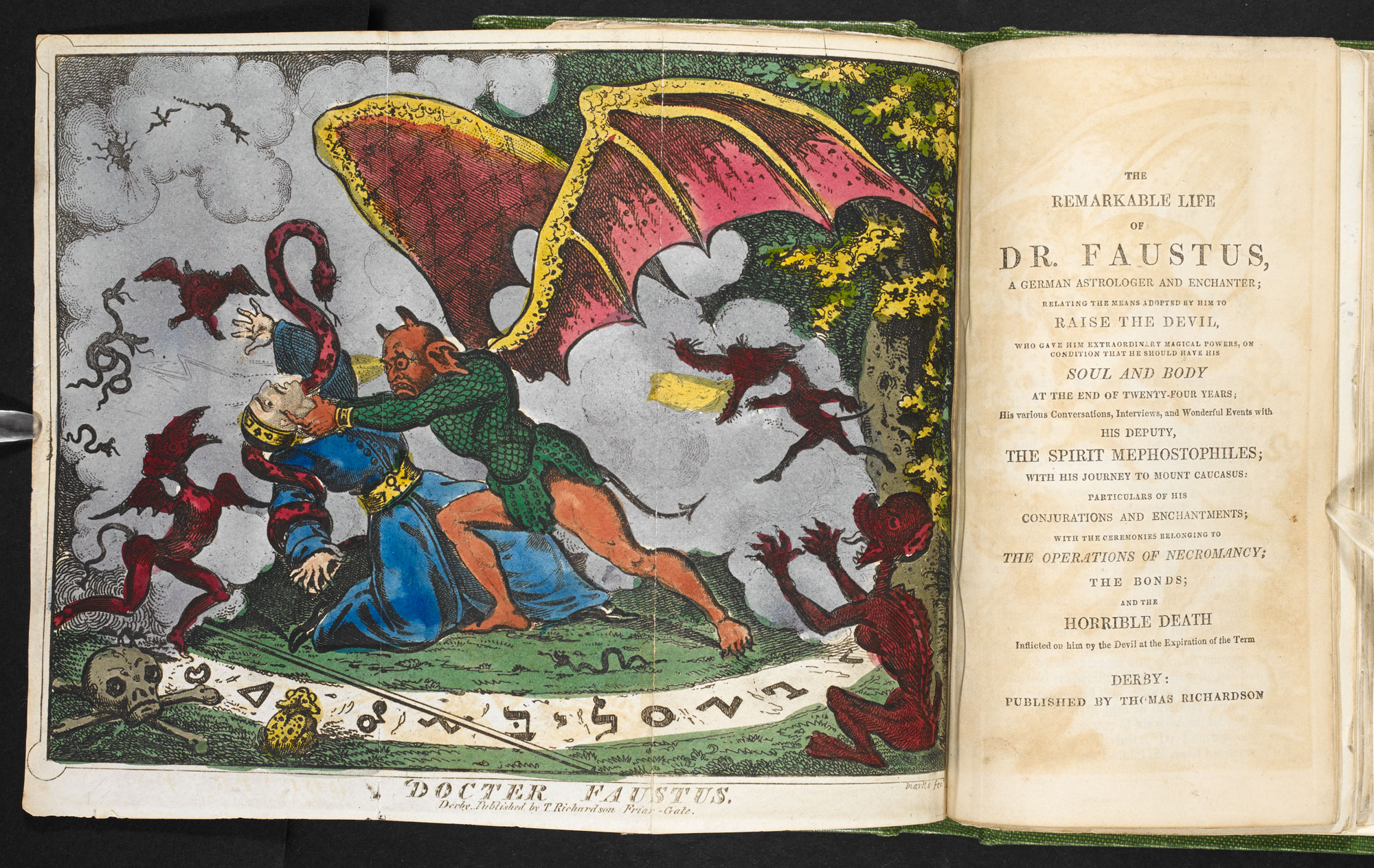 The remarkable life of Dr. Faustus [page: fold-out frontispiece and title page]