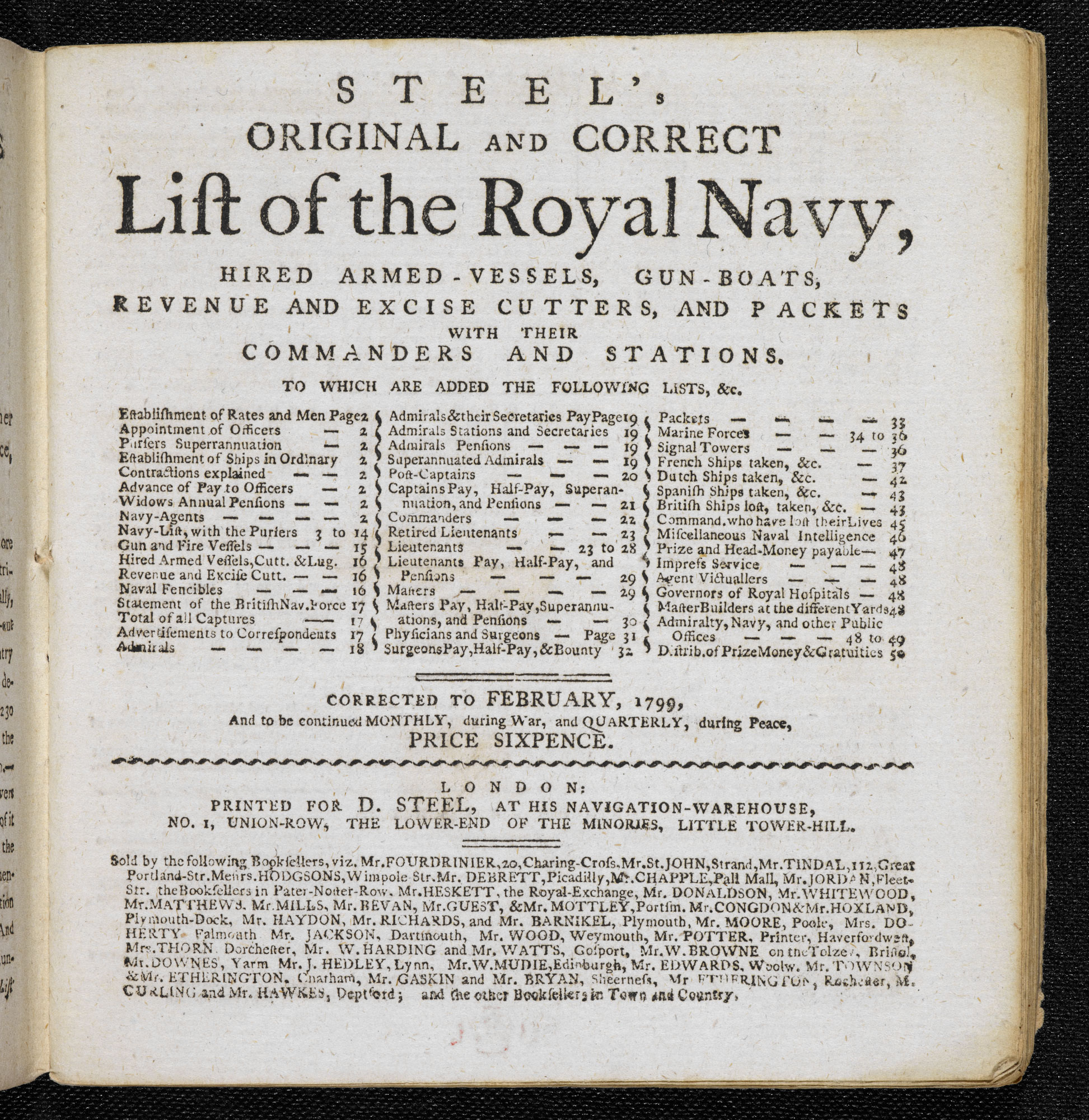 Steel's Navy List [page: title page]