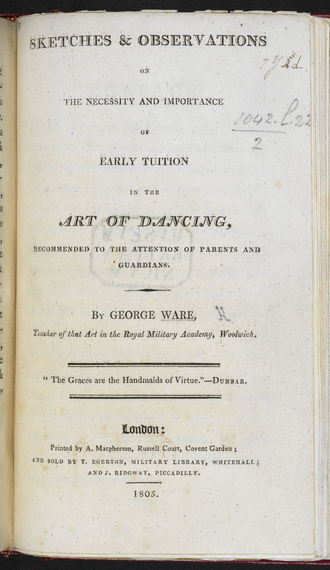 Early Tuition in the Art of Dancing [page: title page]