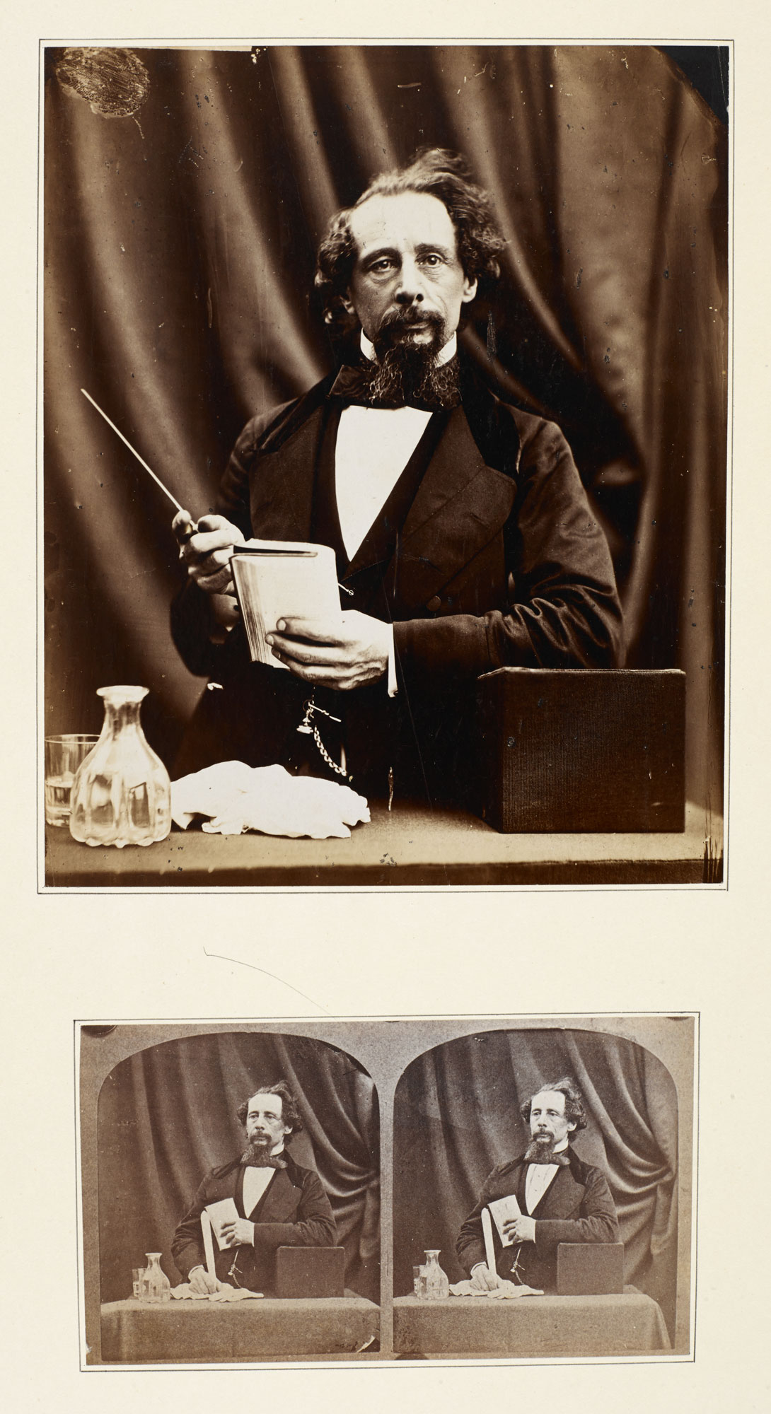 Portrait photographs of Charles Dickens, 1861