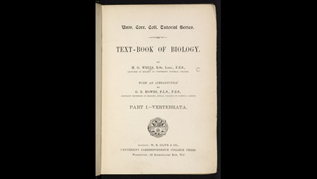 H G Wells's Text-Book of Biology [page: title page]