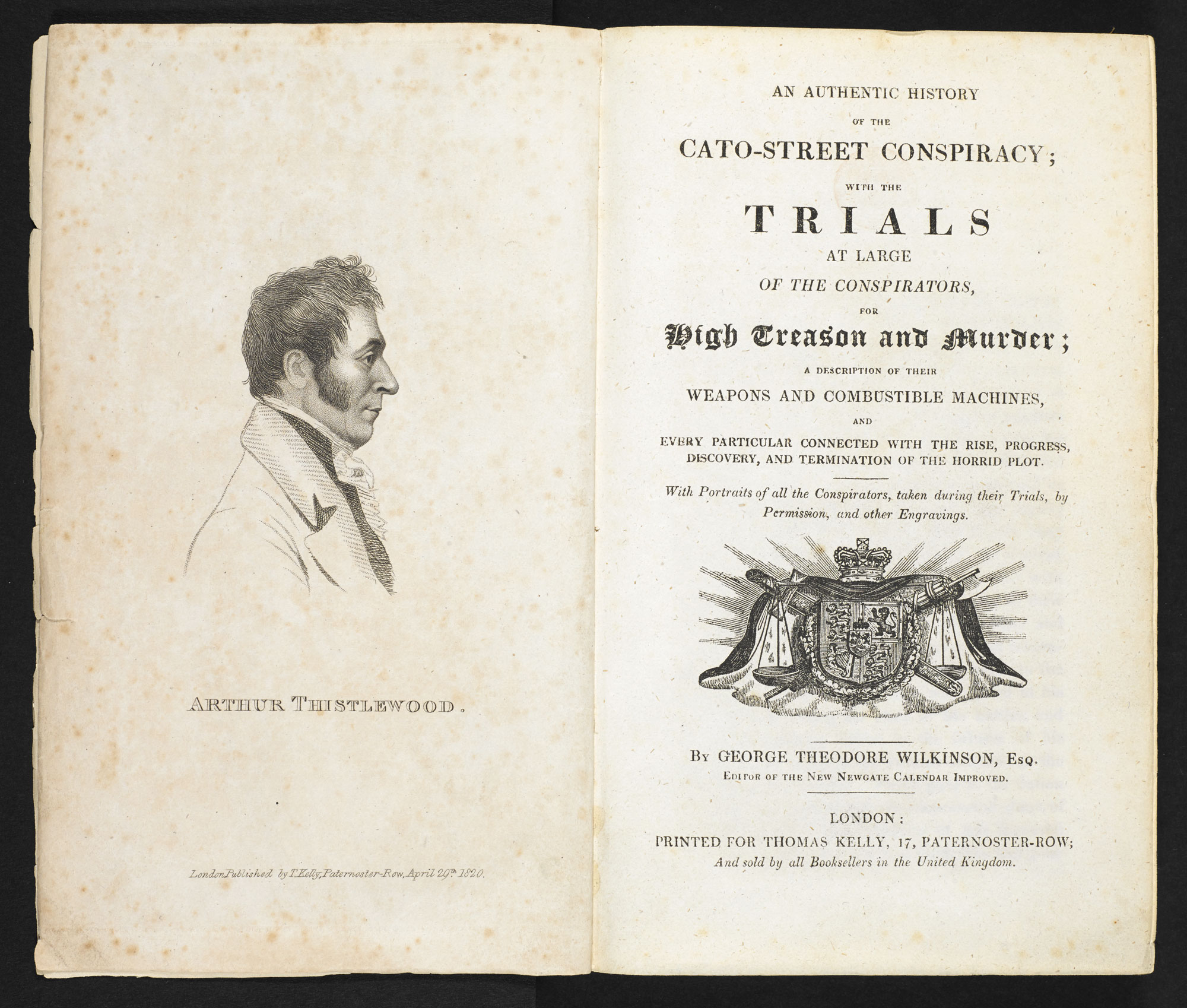 An Authentic History of the Cato-Street Conspiracy [page: frontispiece and title page]