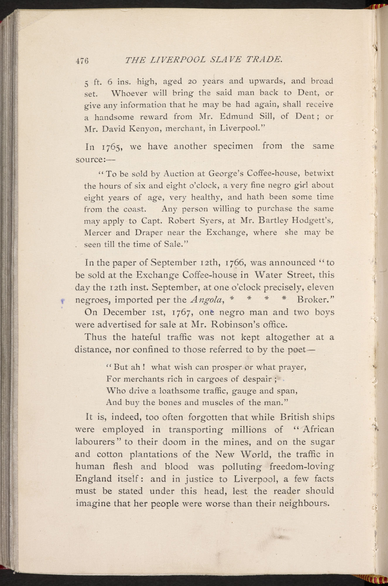 Retrospective account of the Liverpool slave trade [page: 476]