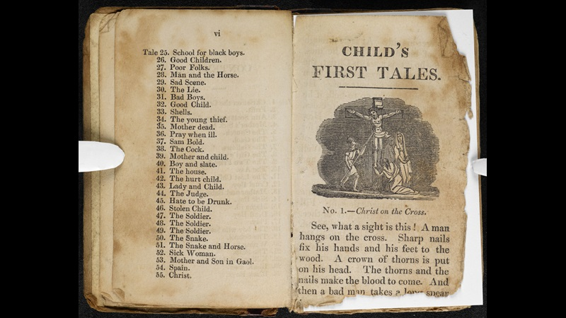 Child's First Tales, written by the Brontë sisters' headmaster [page: vi-[No. 1]]