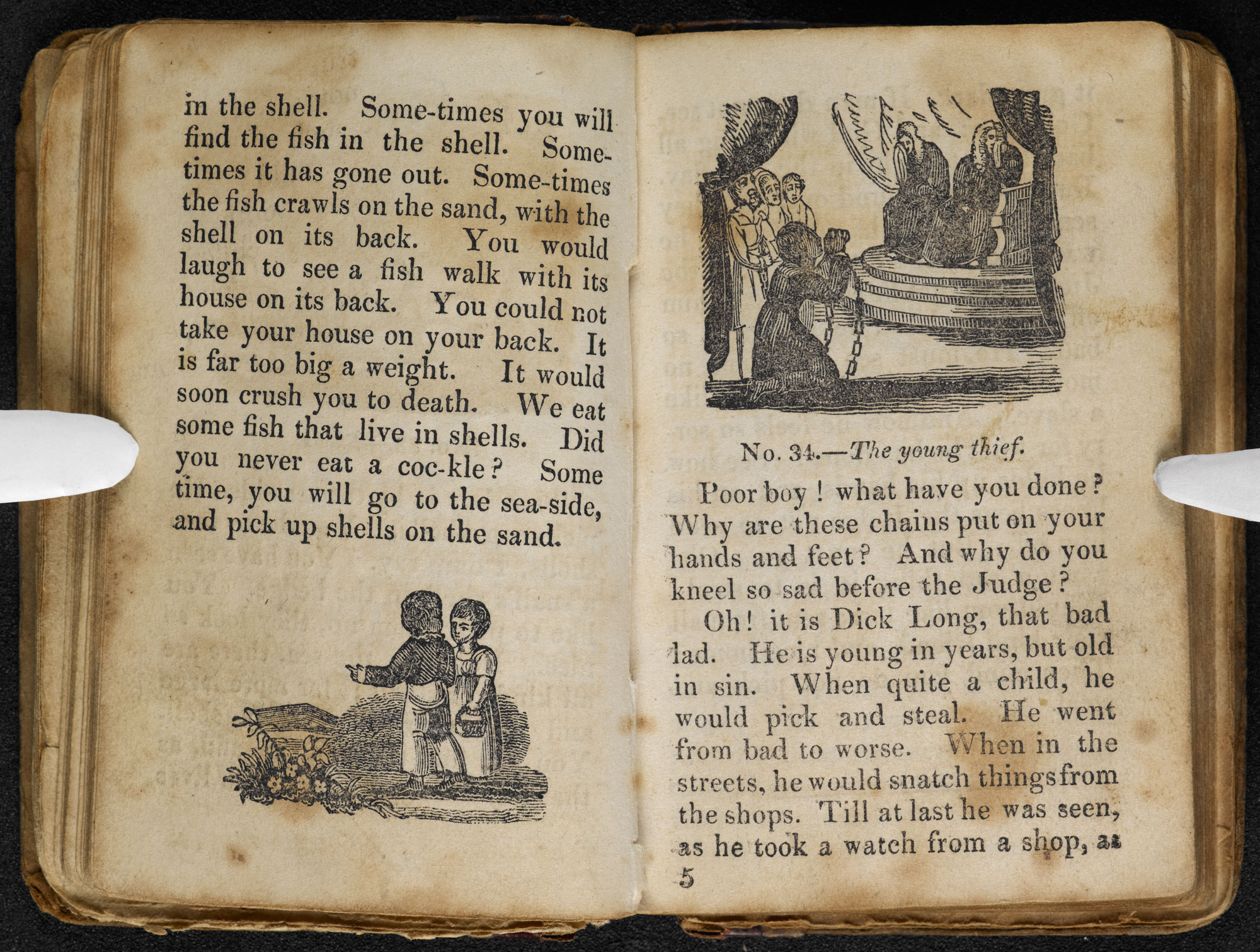 Child's First Tales, written by the Brontë sisters' headmaster [page: [No. 33 cont.]-[No. 34]]