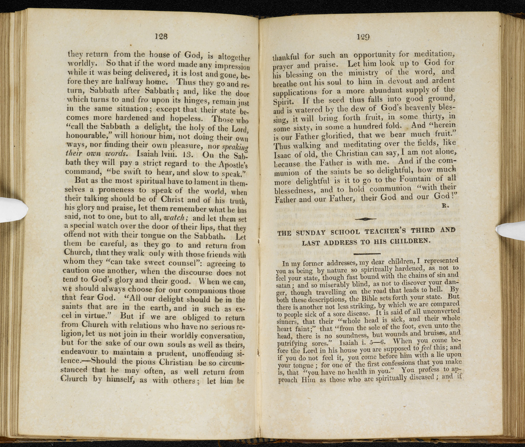 Child's First Tales, written by the Brontë sisters' headmaster [page: vol. II pp. 128-29]
