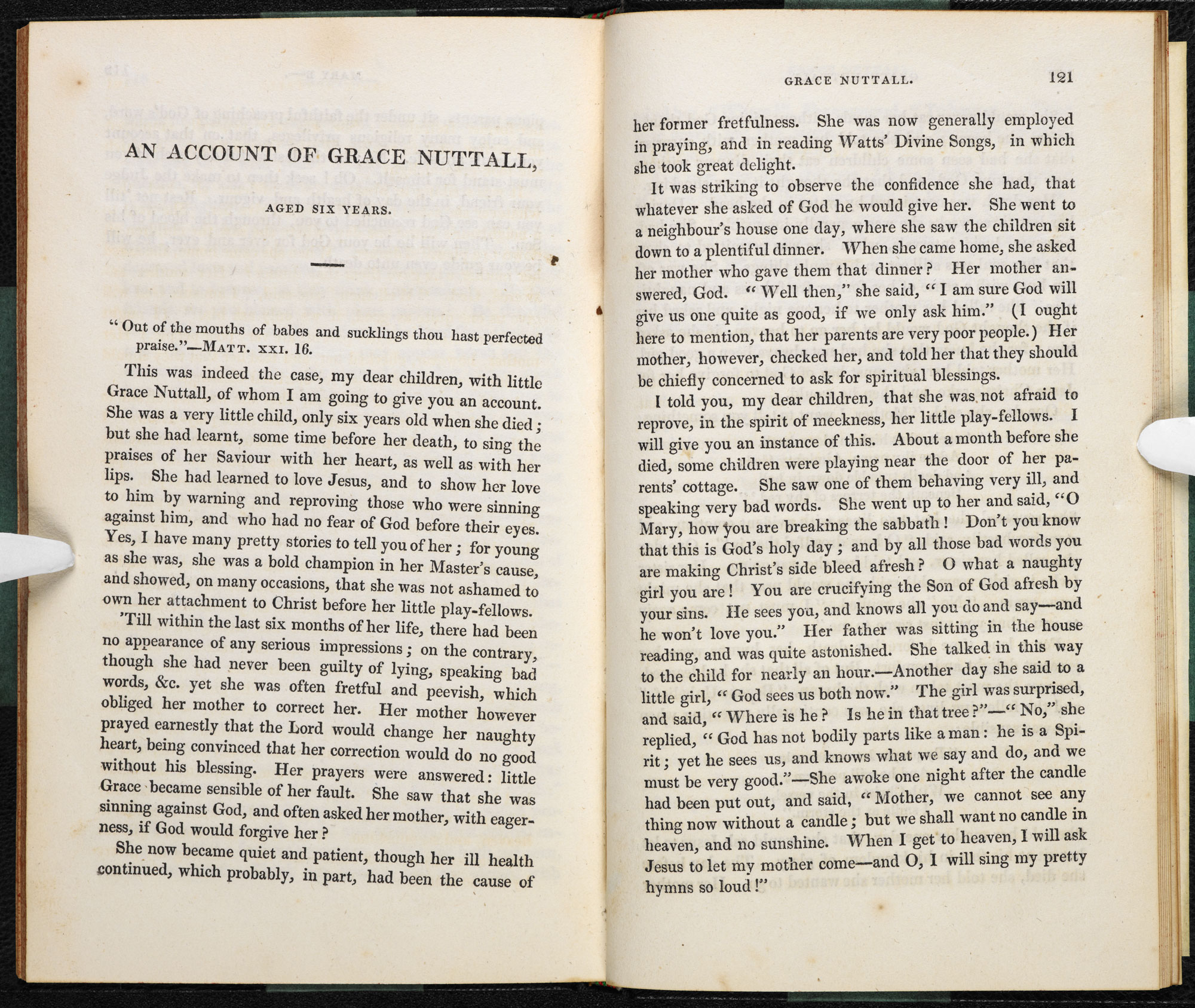 A collection of tracts, written by the Brontë sisters' headmaster [page: 120-21]