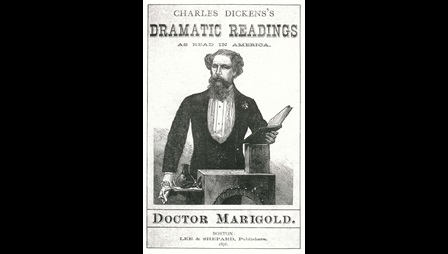 Poster advertising Charles Dickens's Dramatic Readings as Read in America