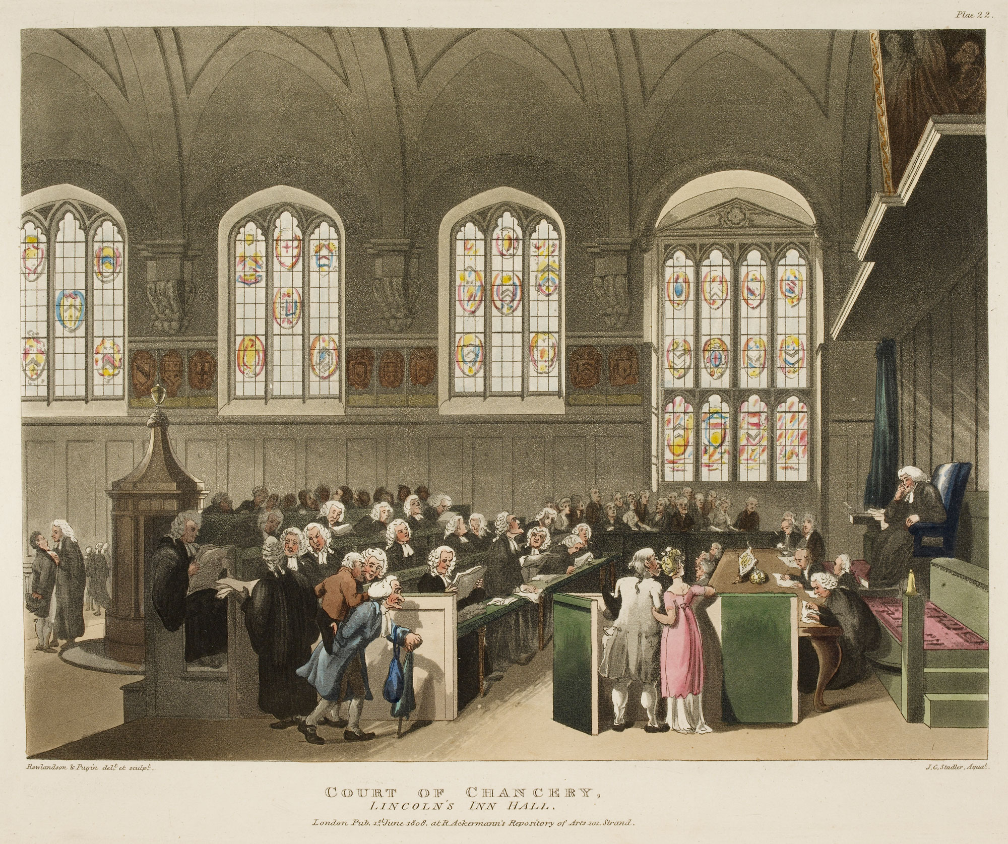 Illustration of the Court of Chancery, Lincoln's Inn Hall
