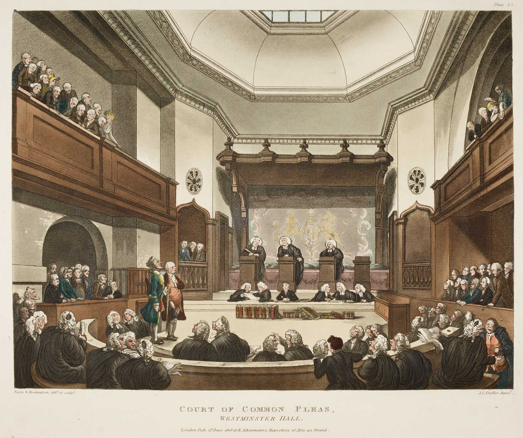 Illustration of the Court of Common Pleas, Westminster Hall