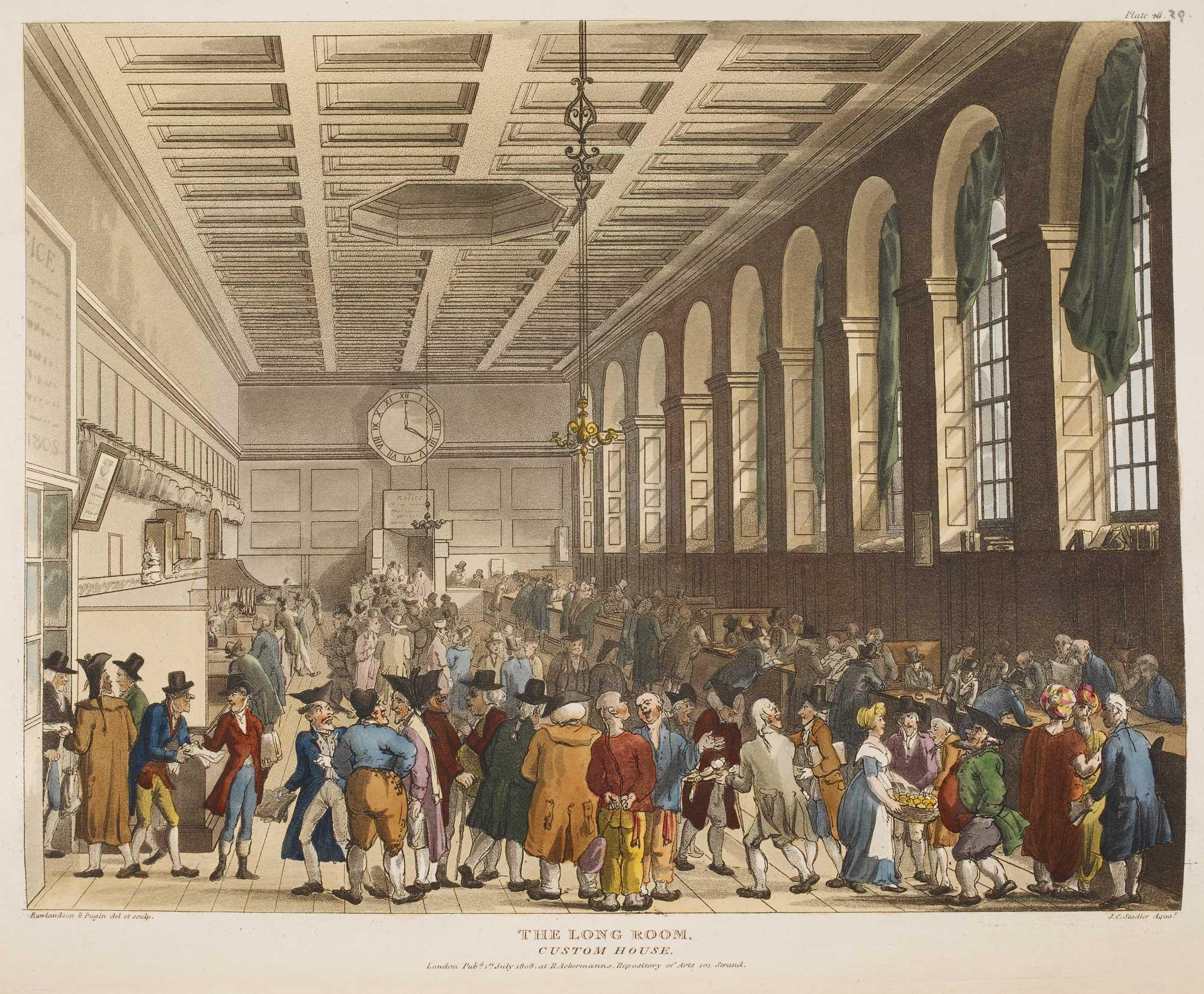 Illustration of Long Room, Custom House