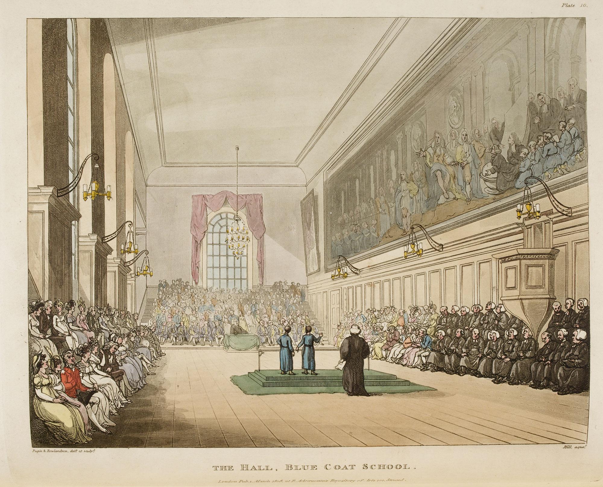 Illustration of The Hall, Blue Coat School