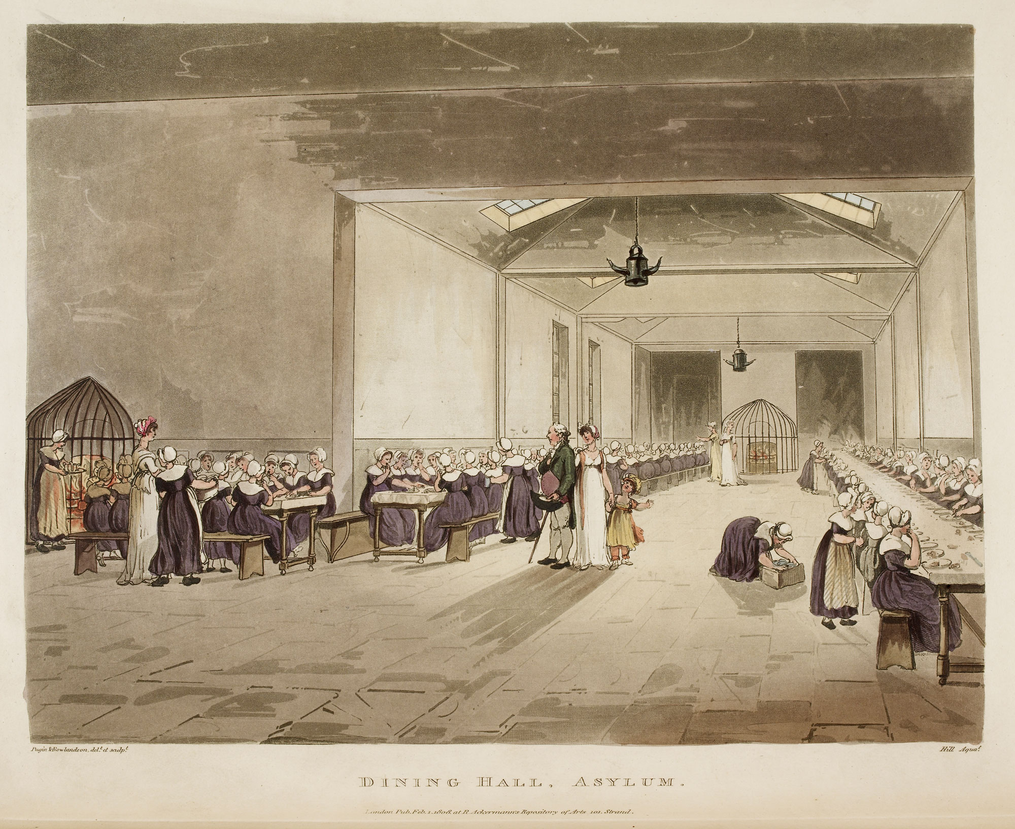 Illustration of the Dining Hall, Asylum