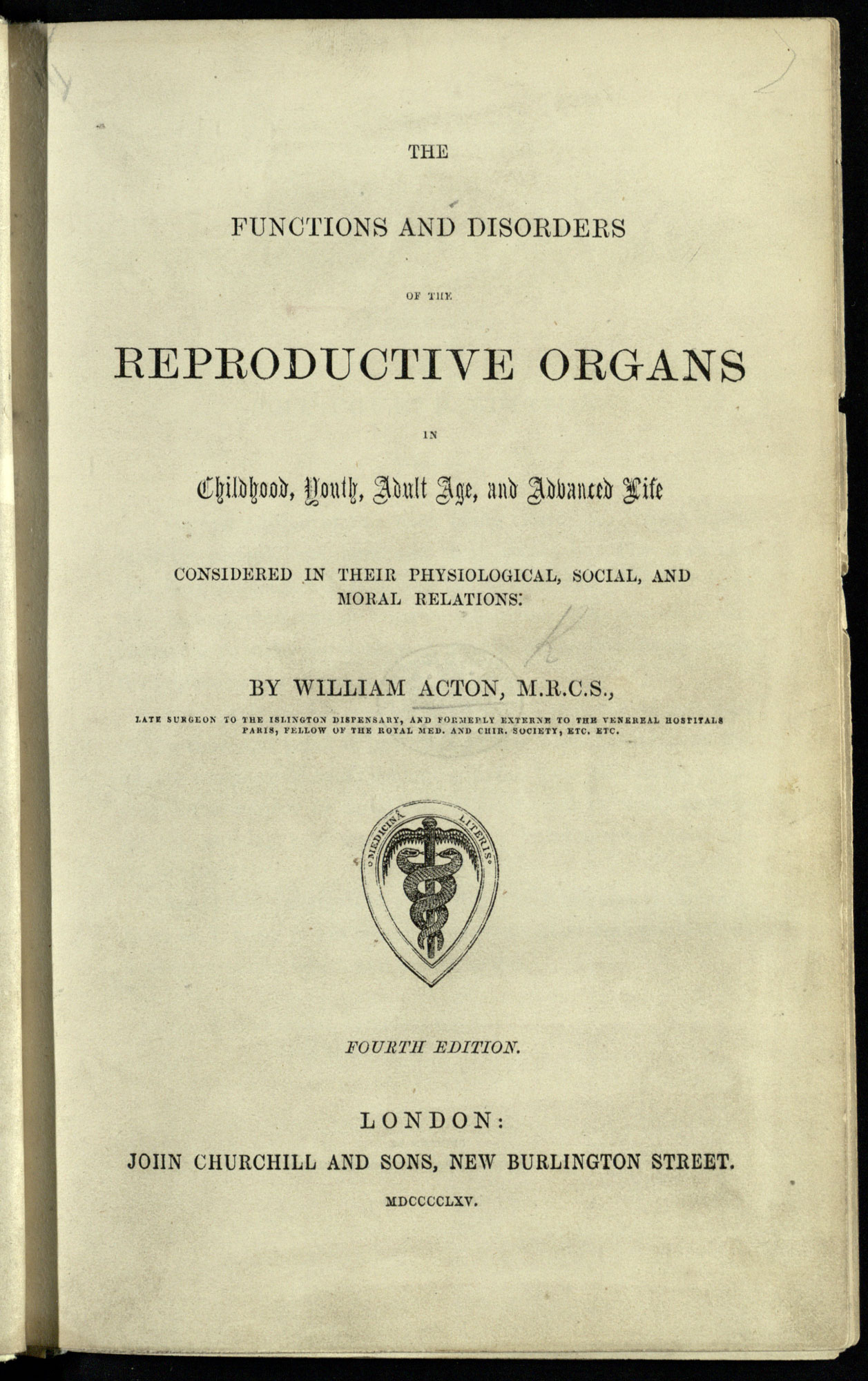 19th century medical views on female sexuality