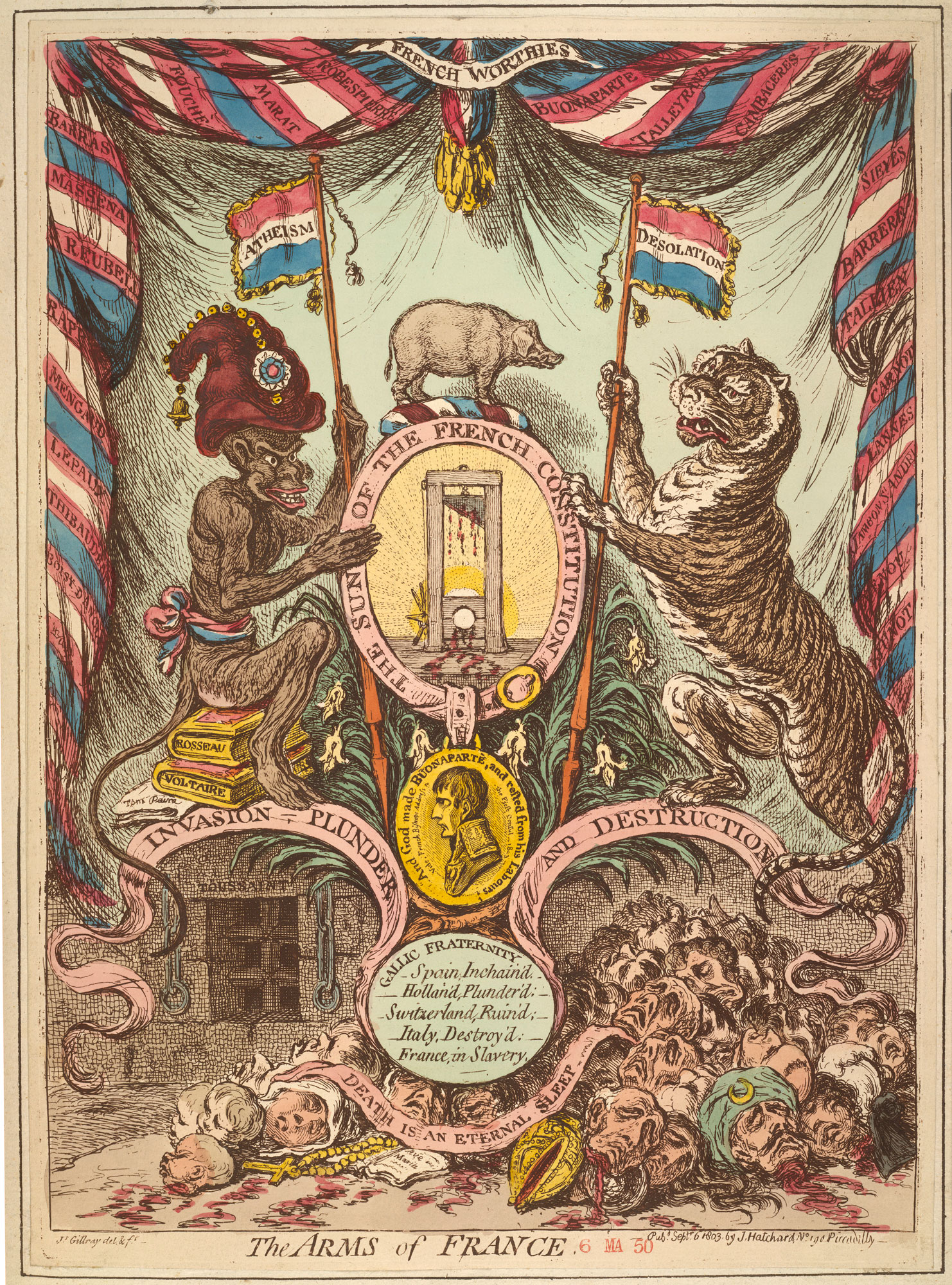 The Arms of France, from a collection of material relating to the fear of a French invasion