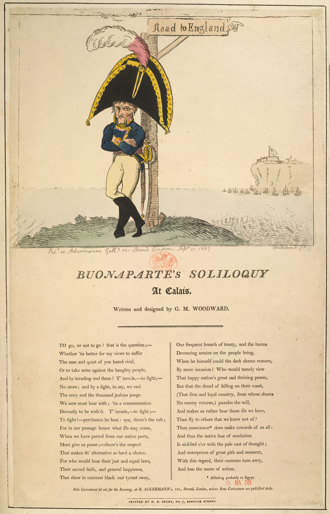 Buonaparte's Soliloquy, from a collection of material relating to the fear of a French invasion