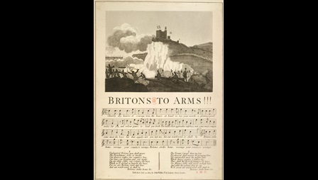 Britons to Arms, from a collection of material relating to the fear of a French invasion