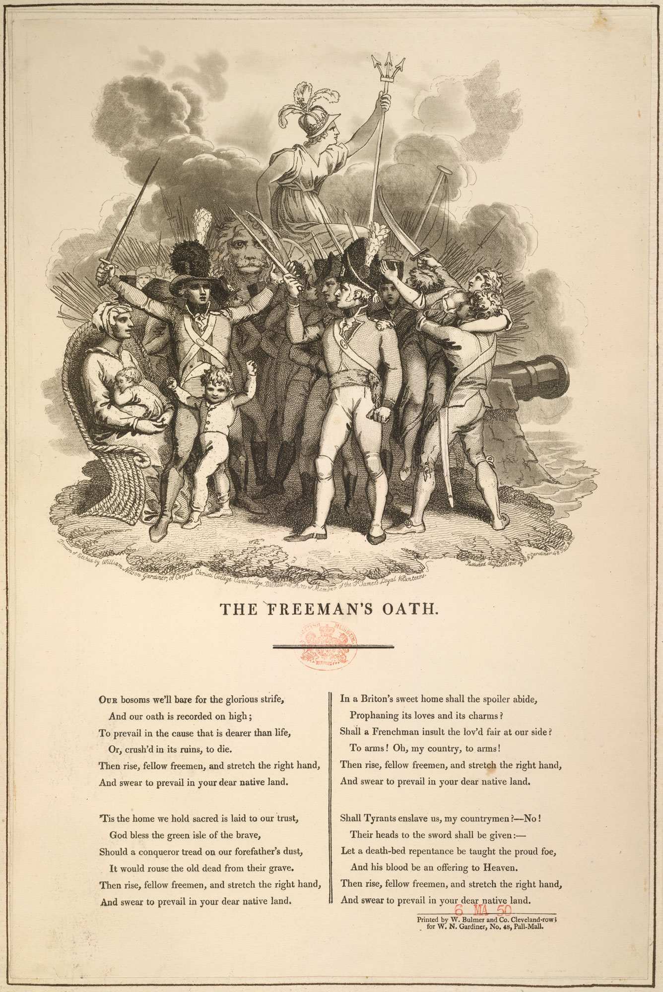 The Freeman's Oath, from a collection of material relating to the fear of a French invasion