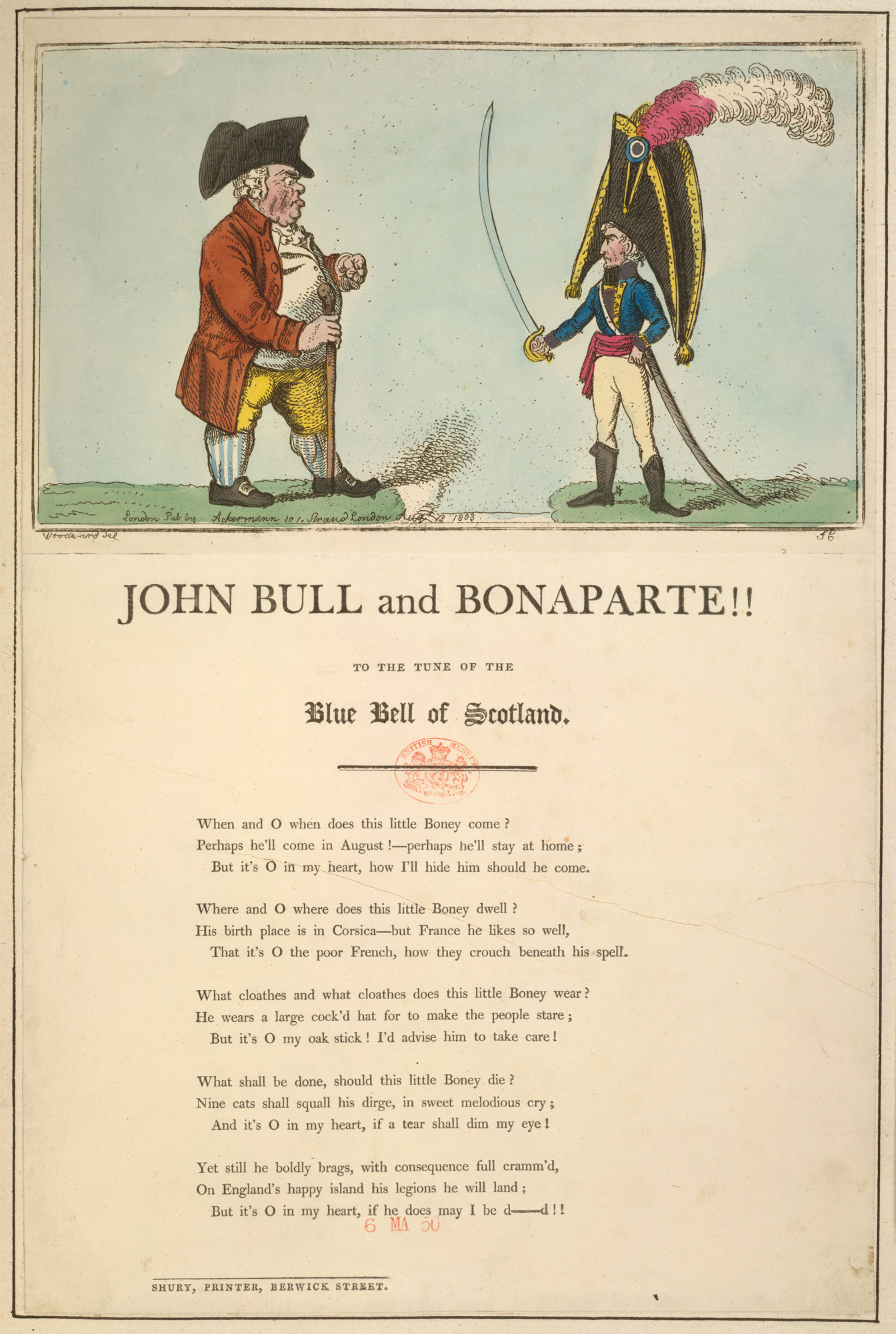John Bull and Bonaparte, from a collection of material relating to the fear of a French invasion