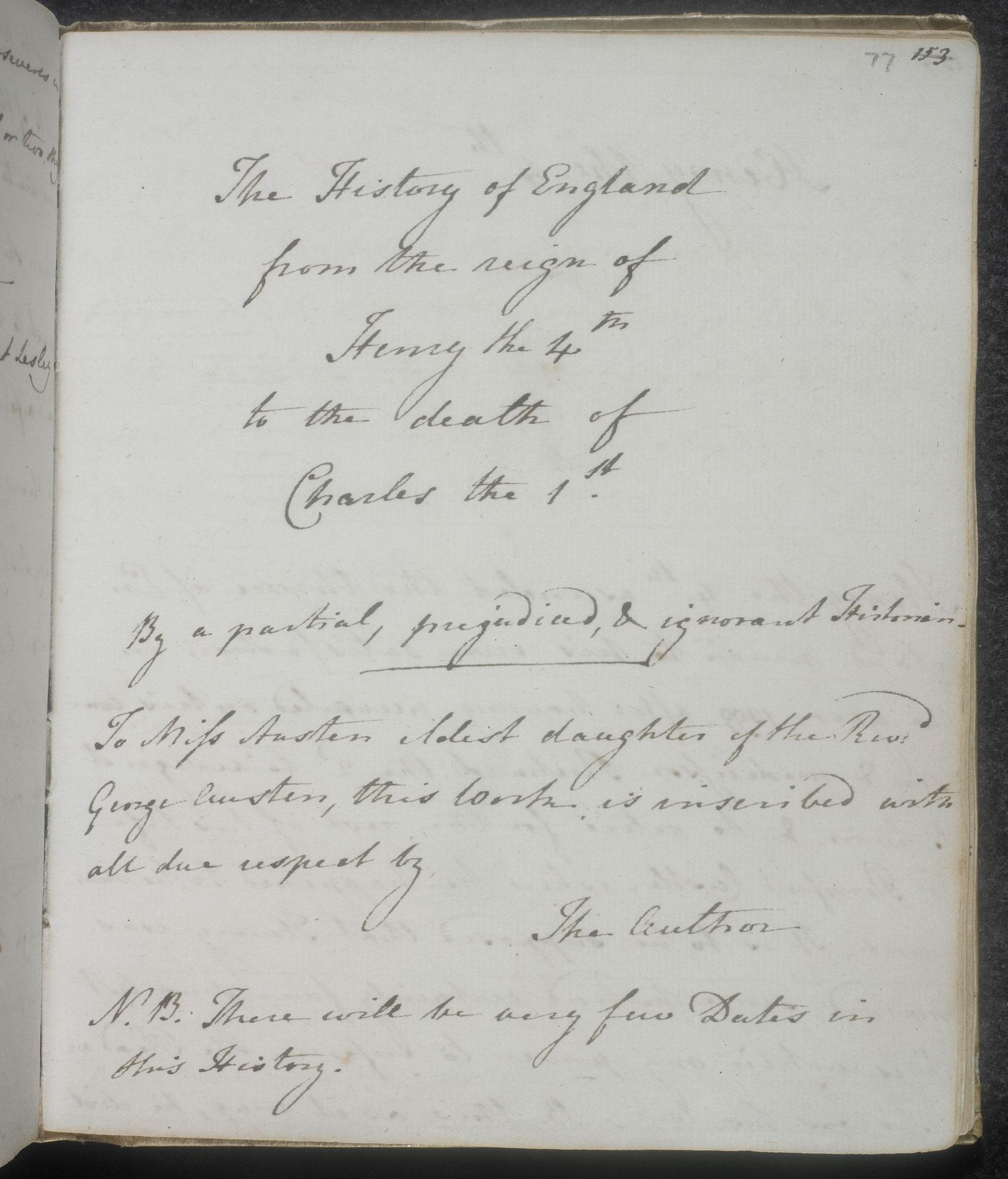 'History of England': Austen juvenilia
