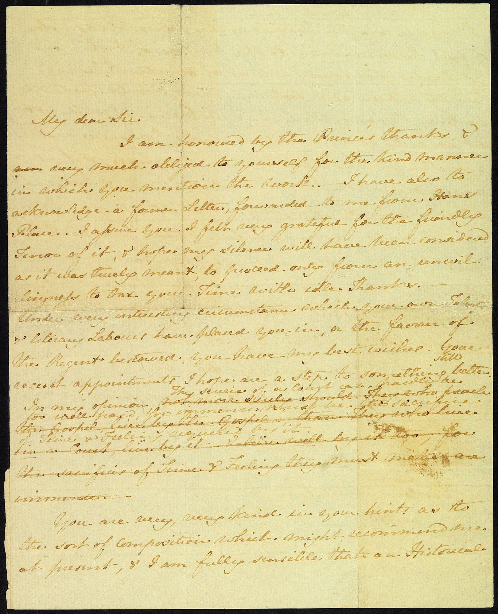 Letter from Jane Austen to James Stanier Clarke, 1 April 1816