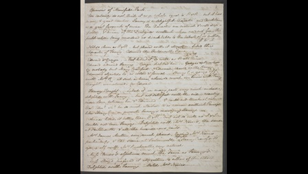 Page containing opinions by various people of Jane Austen's work, written out in her own hand