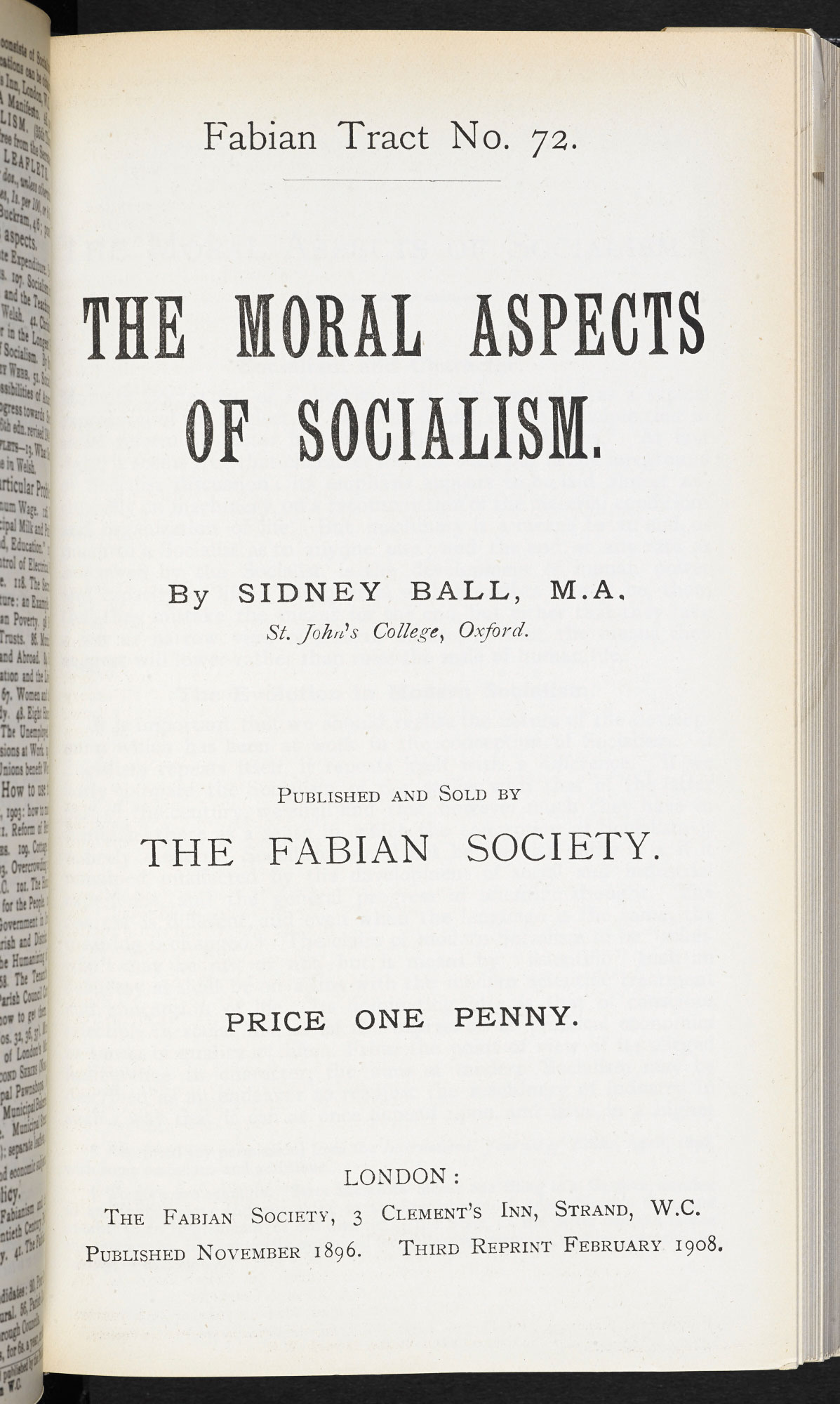 The Moral Aspects of Socialism