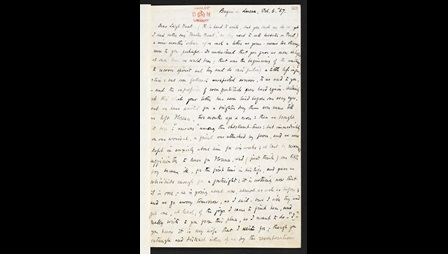 Letter from Robert Browning and Elizabeth Barrett Browning to Leigh Hunt, thanking him for his praise of Aurora Leigh, 6 October 1857