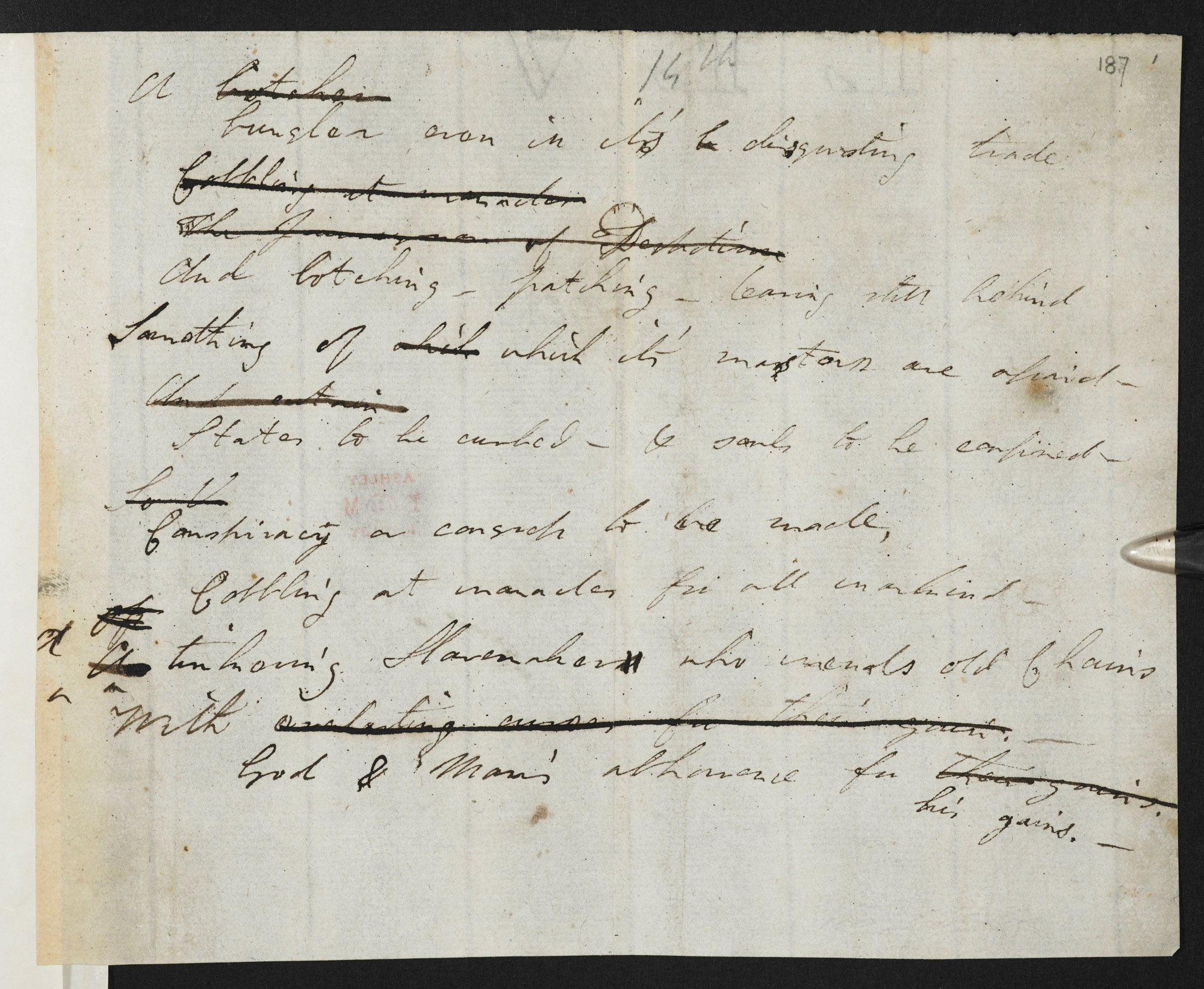 Manuscript draft of the Dedication and Canto I of Don Juan by Lord Byron