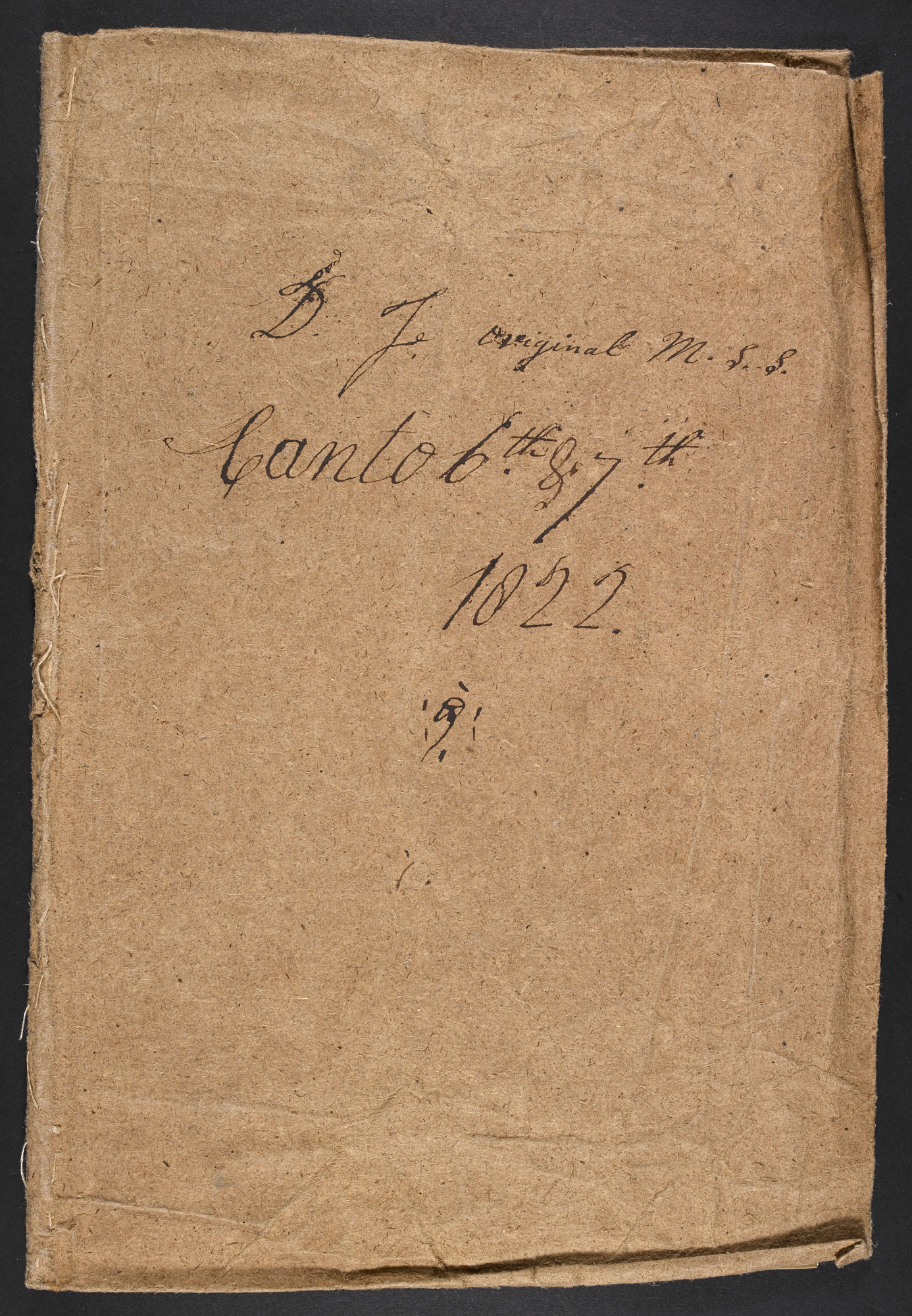 Manuscript draft of Cantos VI and VII of Don Juan by Lord Byron