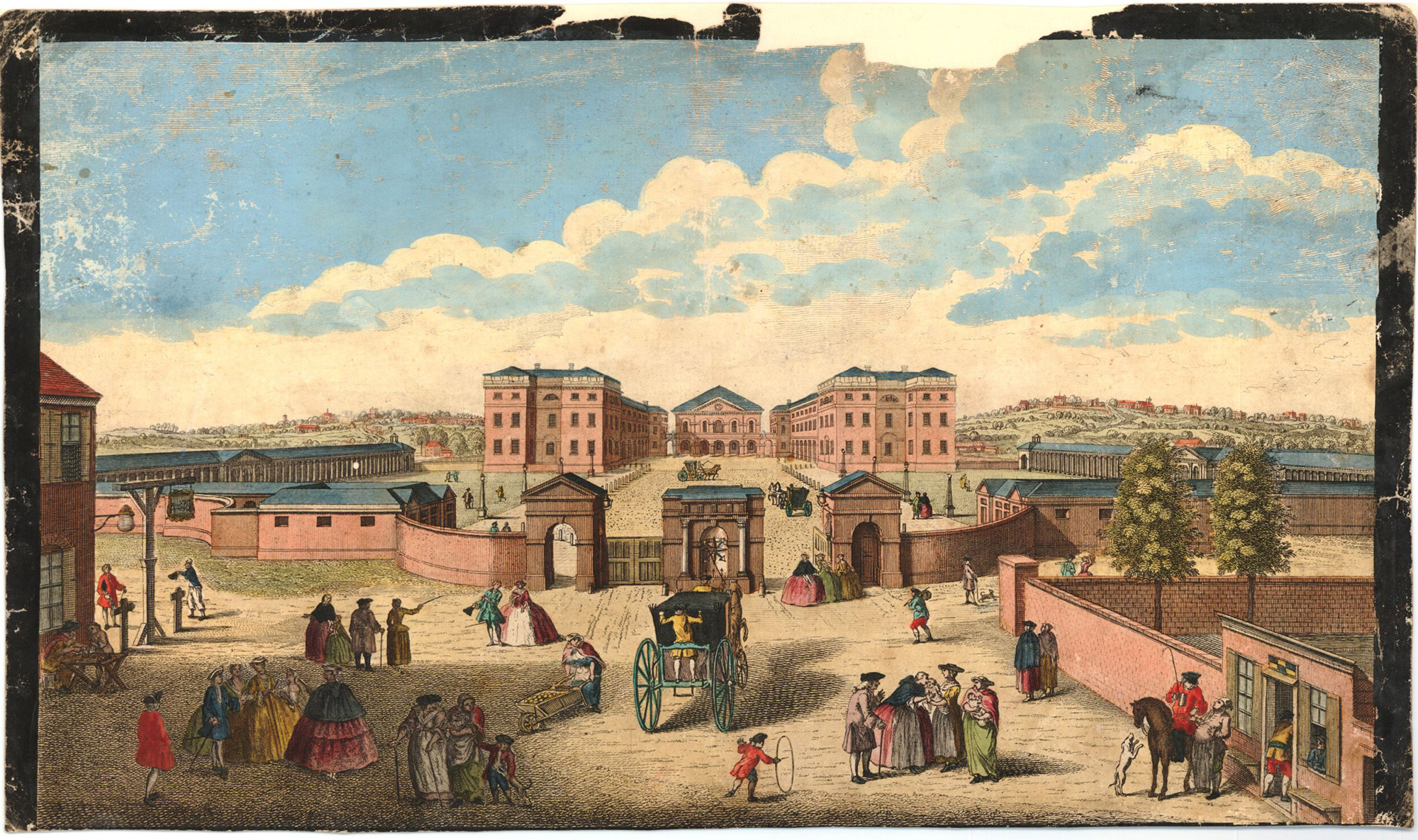 Colour view of the Foundling Hospital