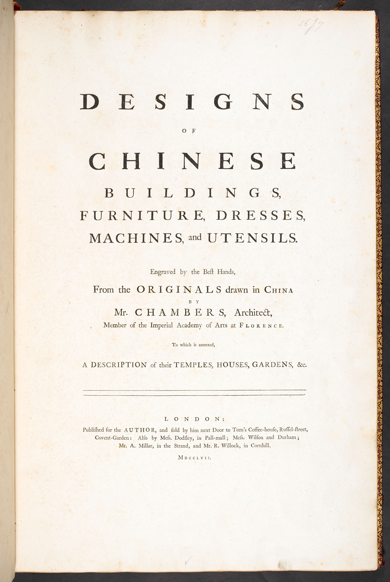 Designs of Chinese Buildings and Furniture