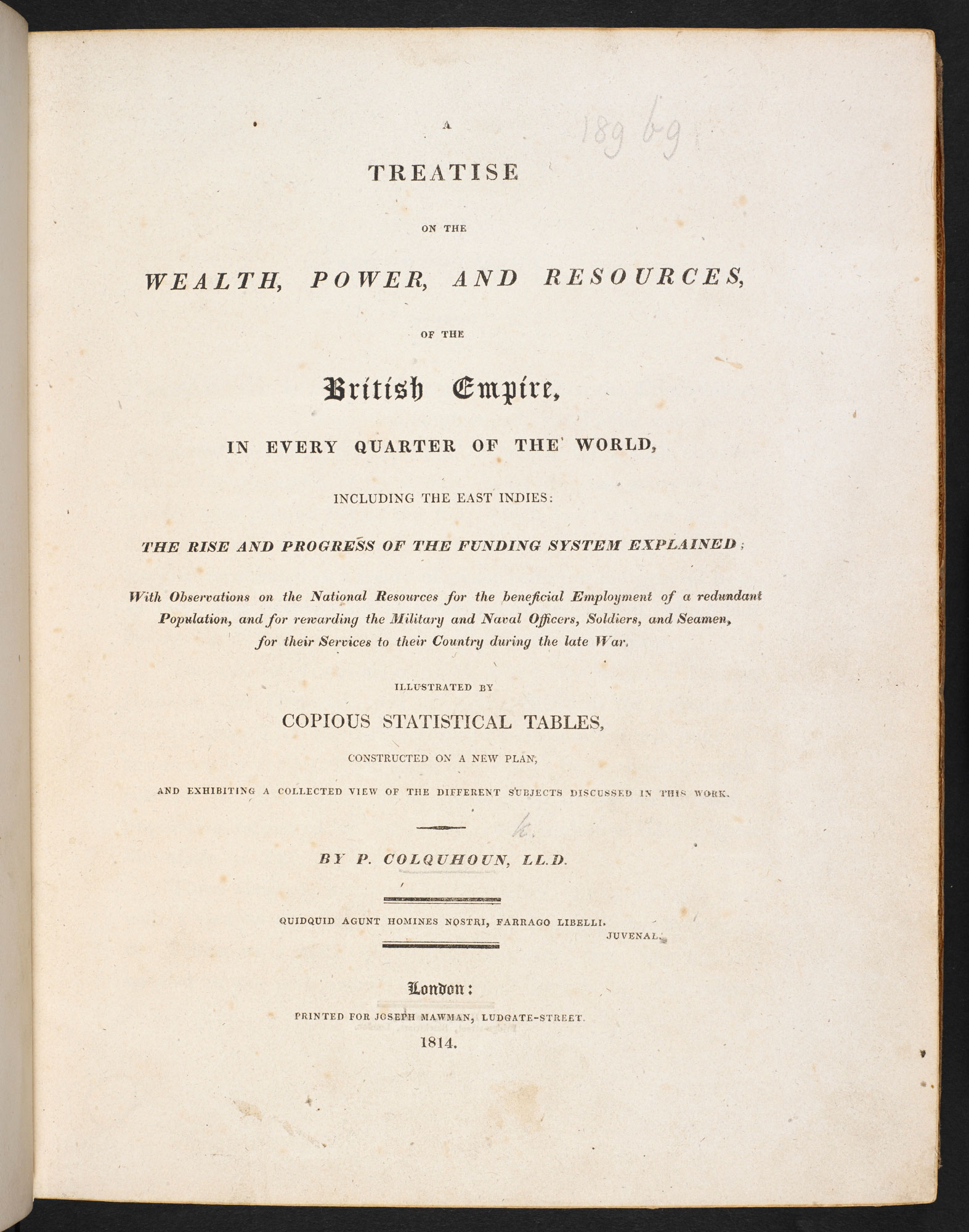 Treatise on the Wealth, Power and Resources of the British Empire