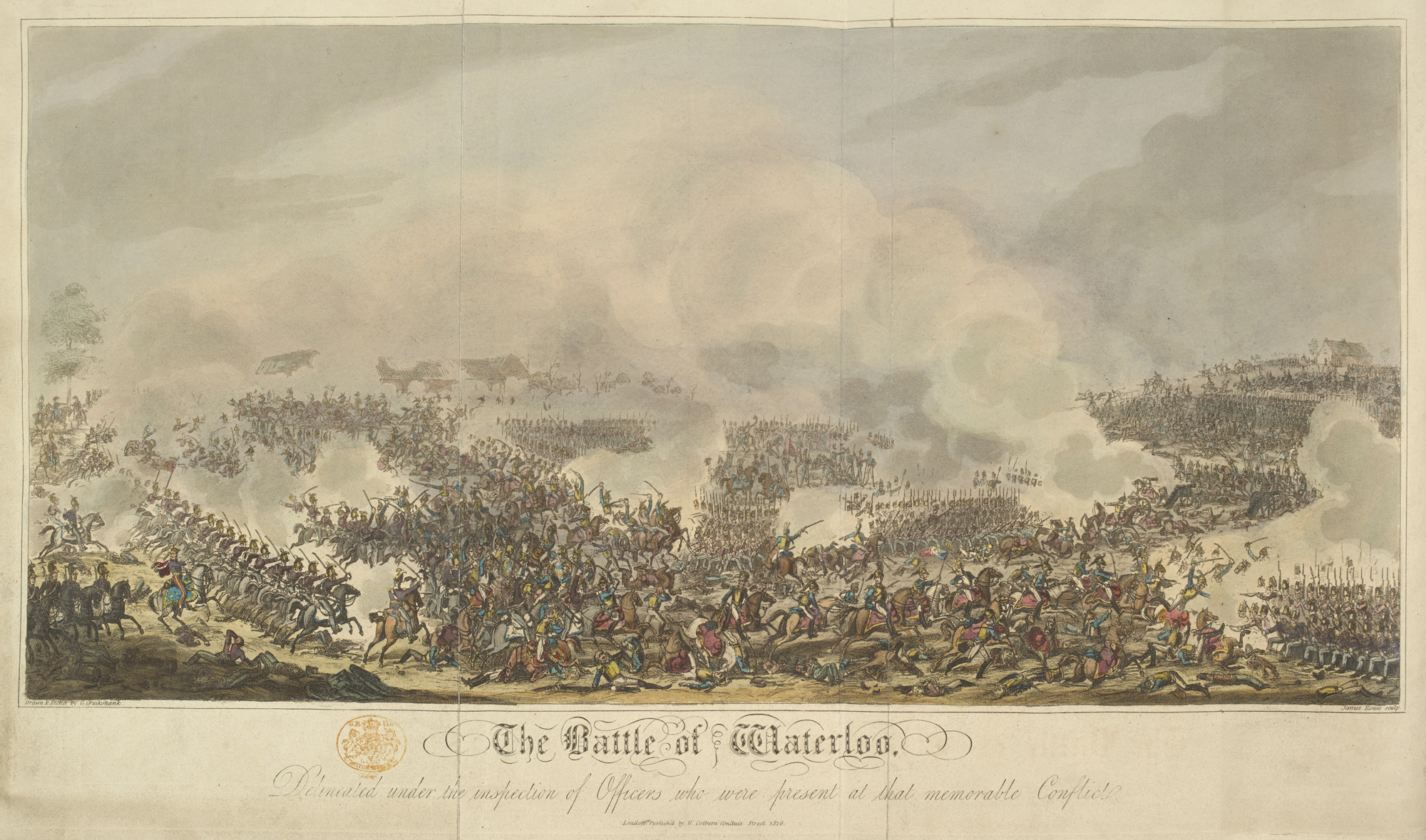 Illustration of the Battle of Waterloo