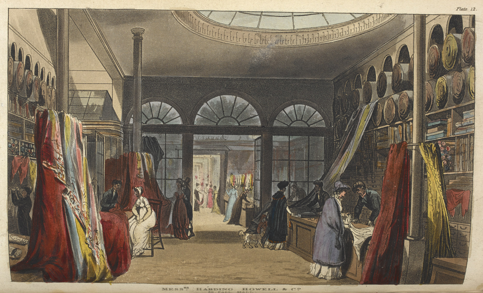 Shopping for fabric, 1809