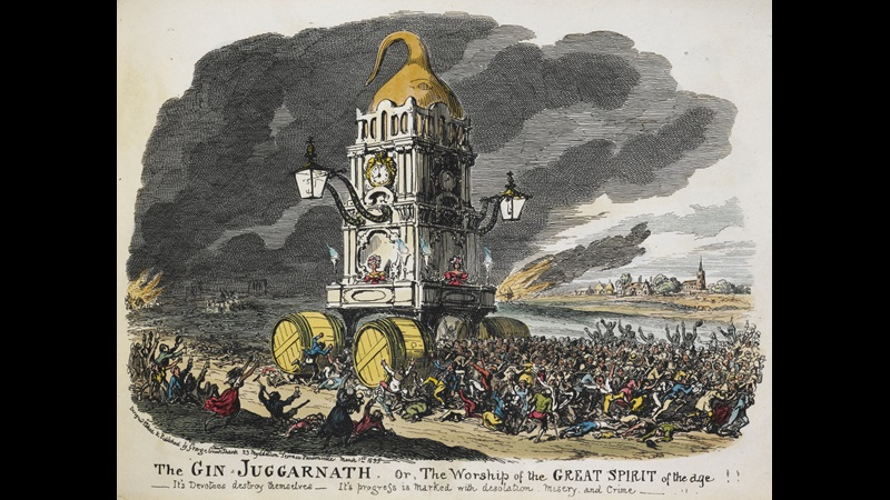 The Gin Juggernath, from My Sketch Book by George Cruikshank
