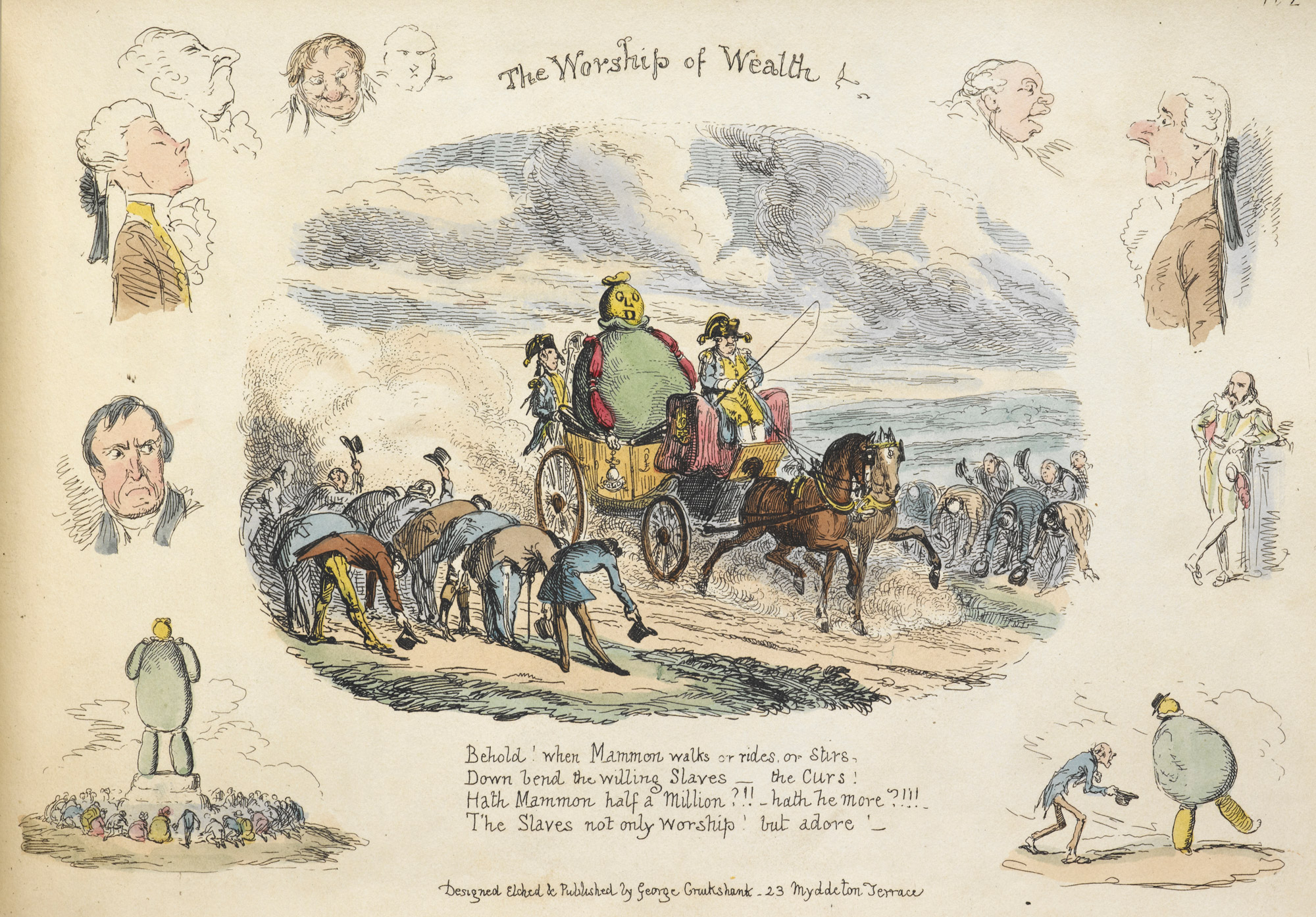 The Worship of Wealth, from My Sketch Book by George Cruikshank