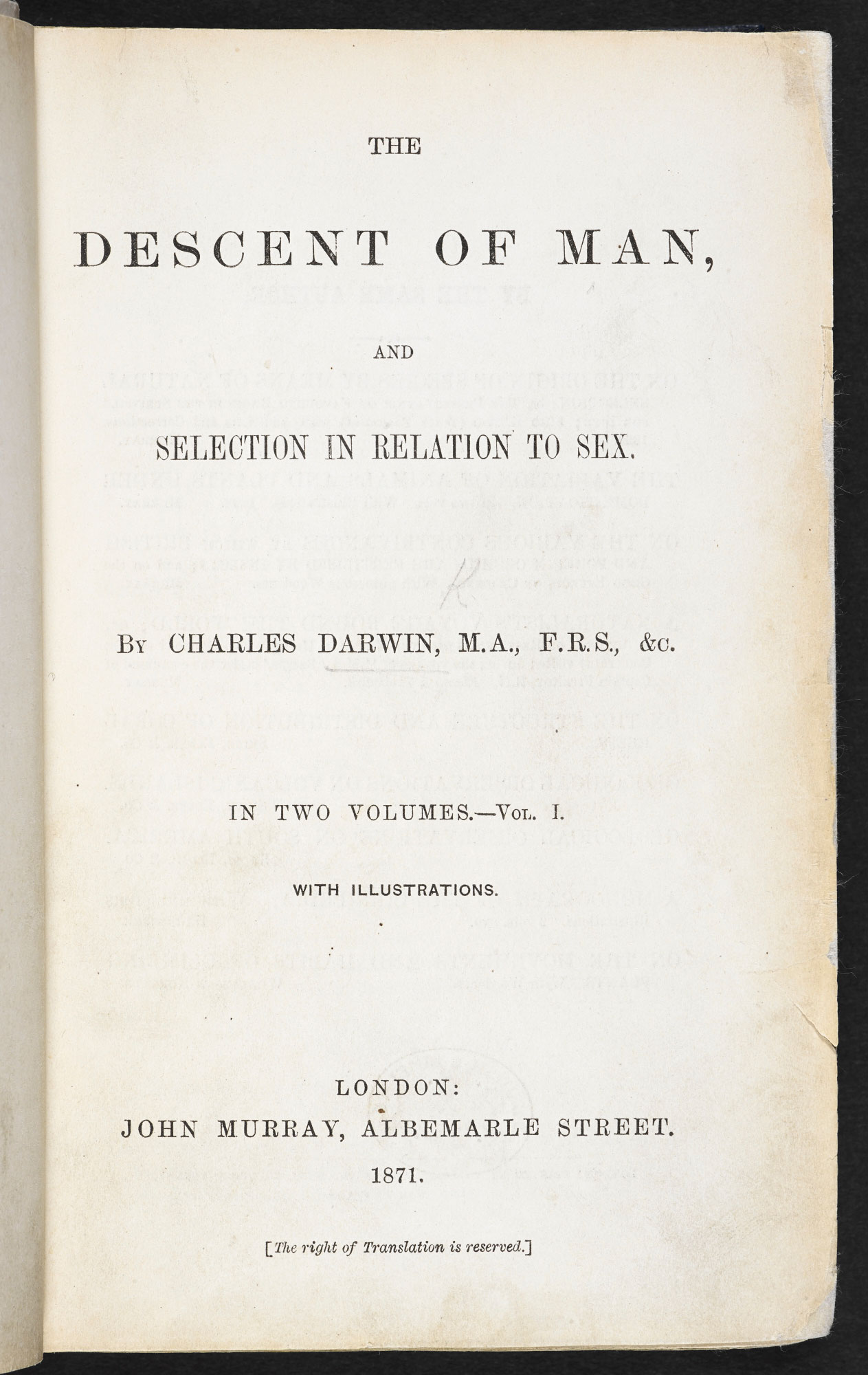 A brief look into charles darwins book about the creation of man