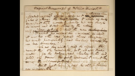 Manuscript of Oliver Twist by Charles Dickens