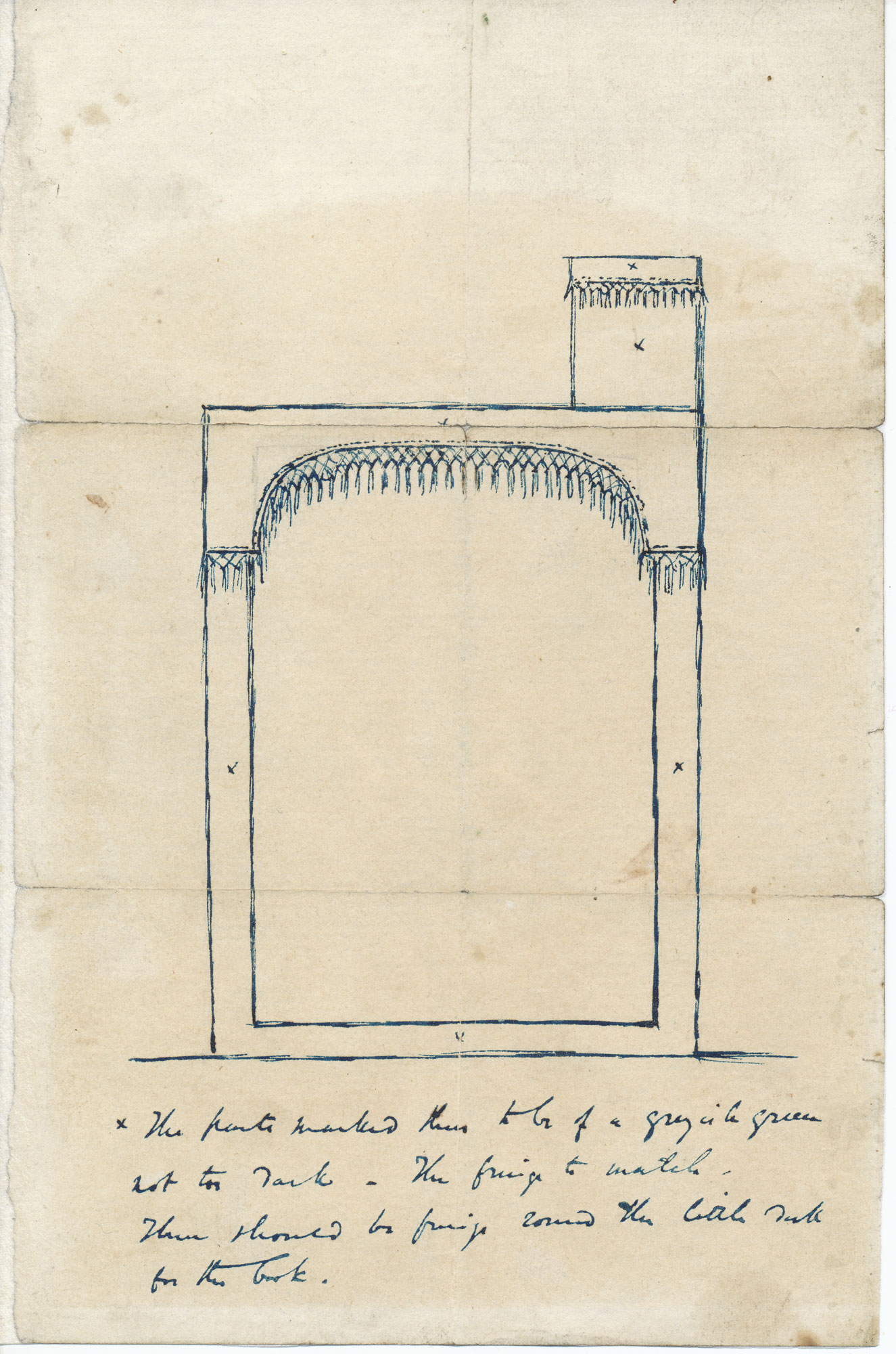 Charles Dickens's original designs for a reading desk