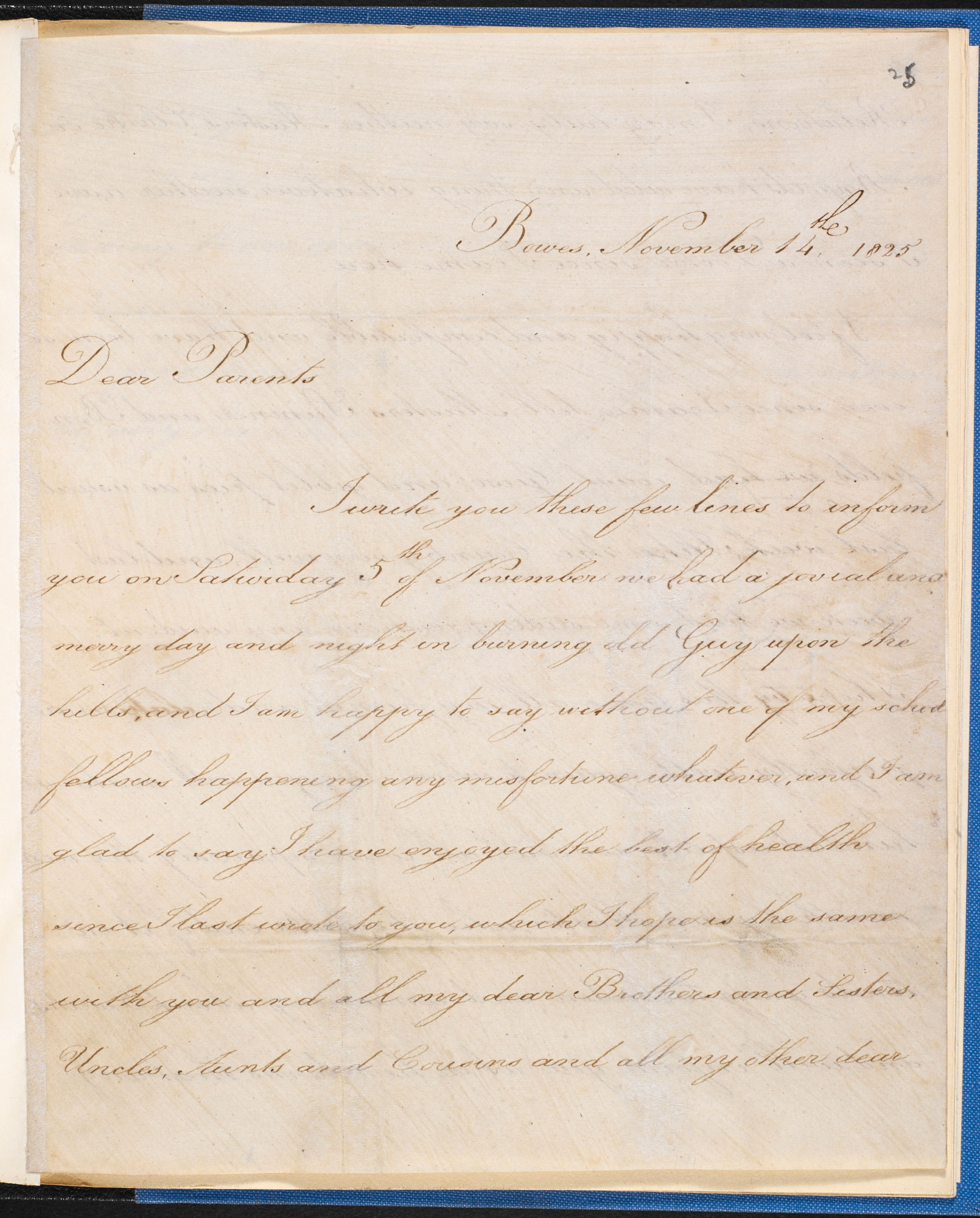 letter to his parents from george brooks a pupil of william shaw written in 1825 two years after shaws trial it is accompanied by another letter from